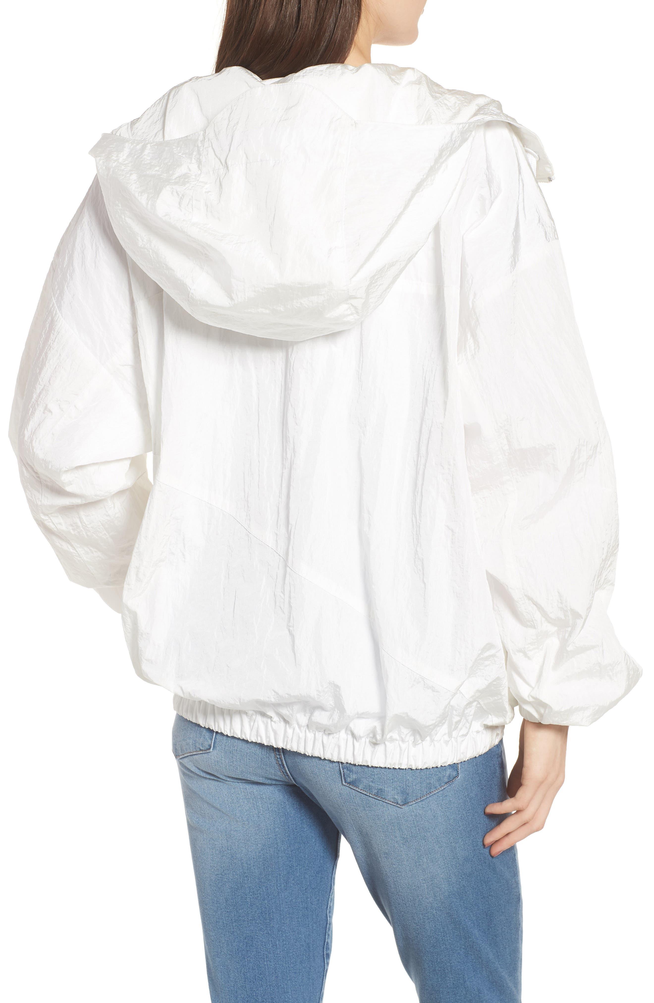 Hooded Windbreaker Jacket,                             Alternate thumbnail 2, color,                             White