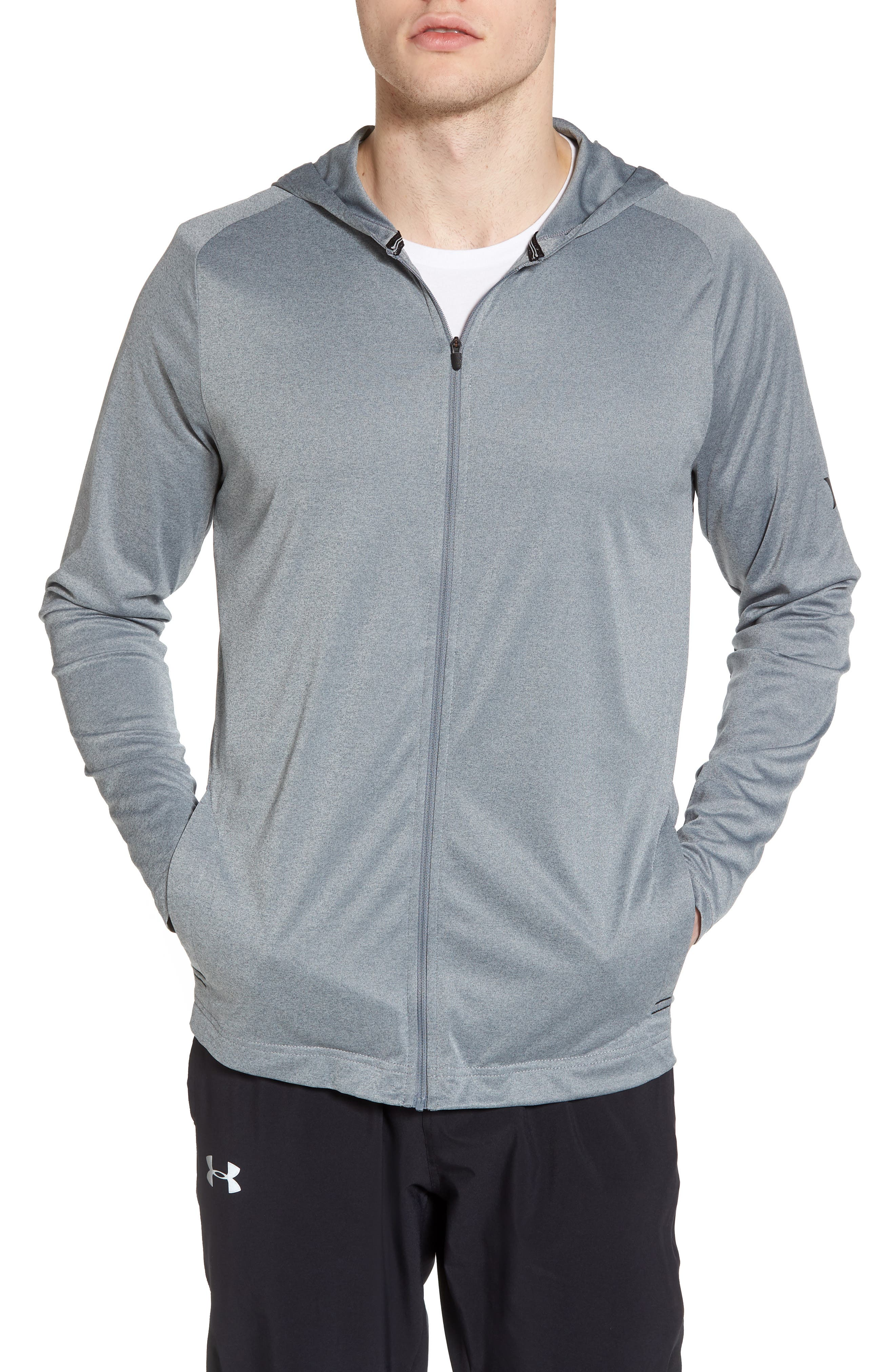 Icon Quick Dry Zip Hoodie,                         Main,                         color, Cool Grey Htr