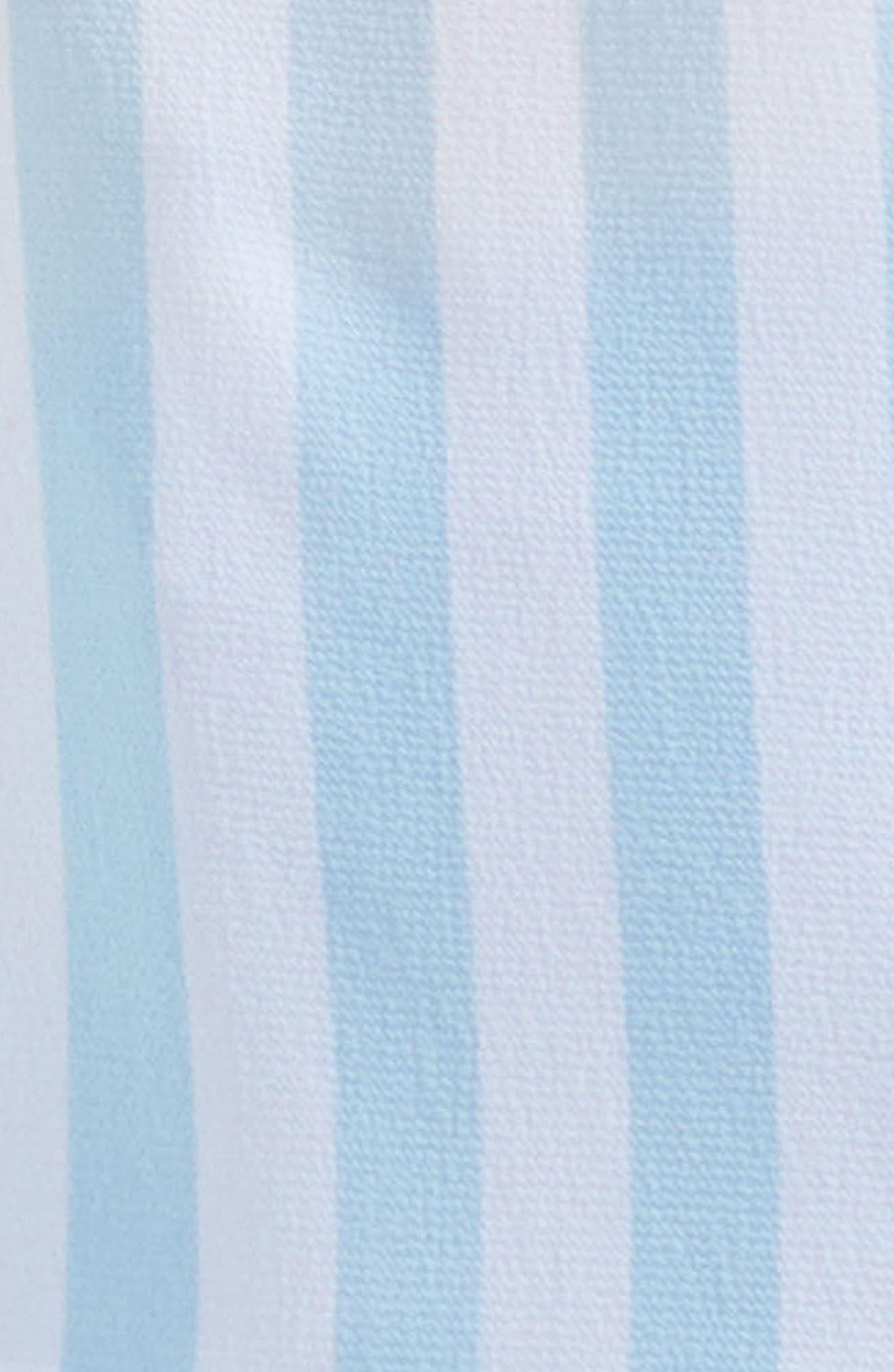 Spectator Stripe One-Shoulder Blouse,                             Alternate thumbnail 3, color,                             Aqua Glow