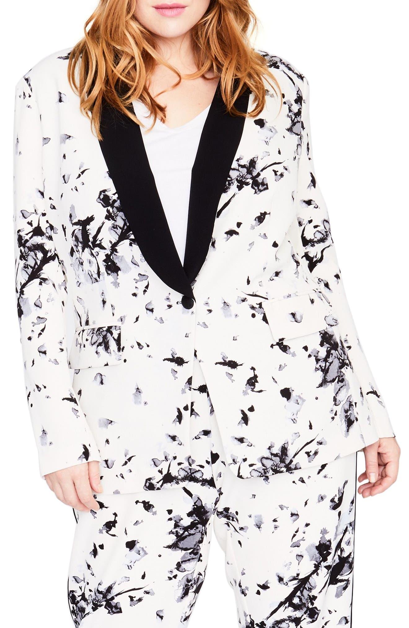RACHEL Rachel Roy Sailor Floral Blazer (Plus Size)