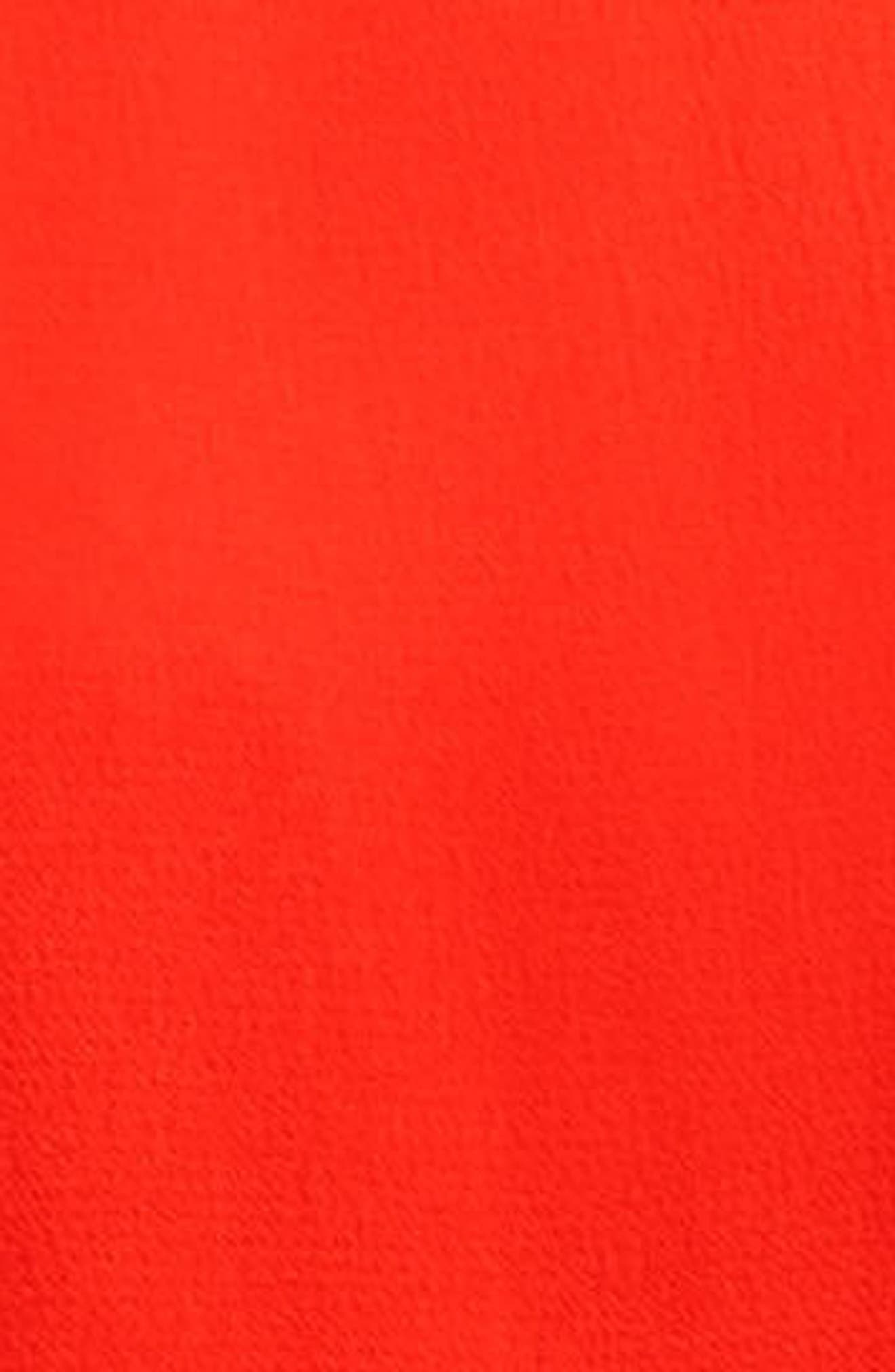 Sleeveless Asymmetrical Hem Blouse,                             Alternate thumbnail 3, color,                             Geranium