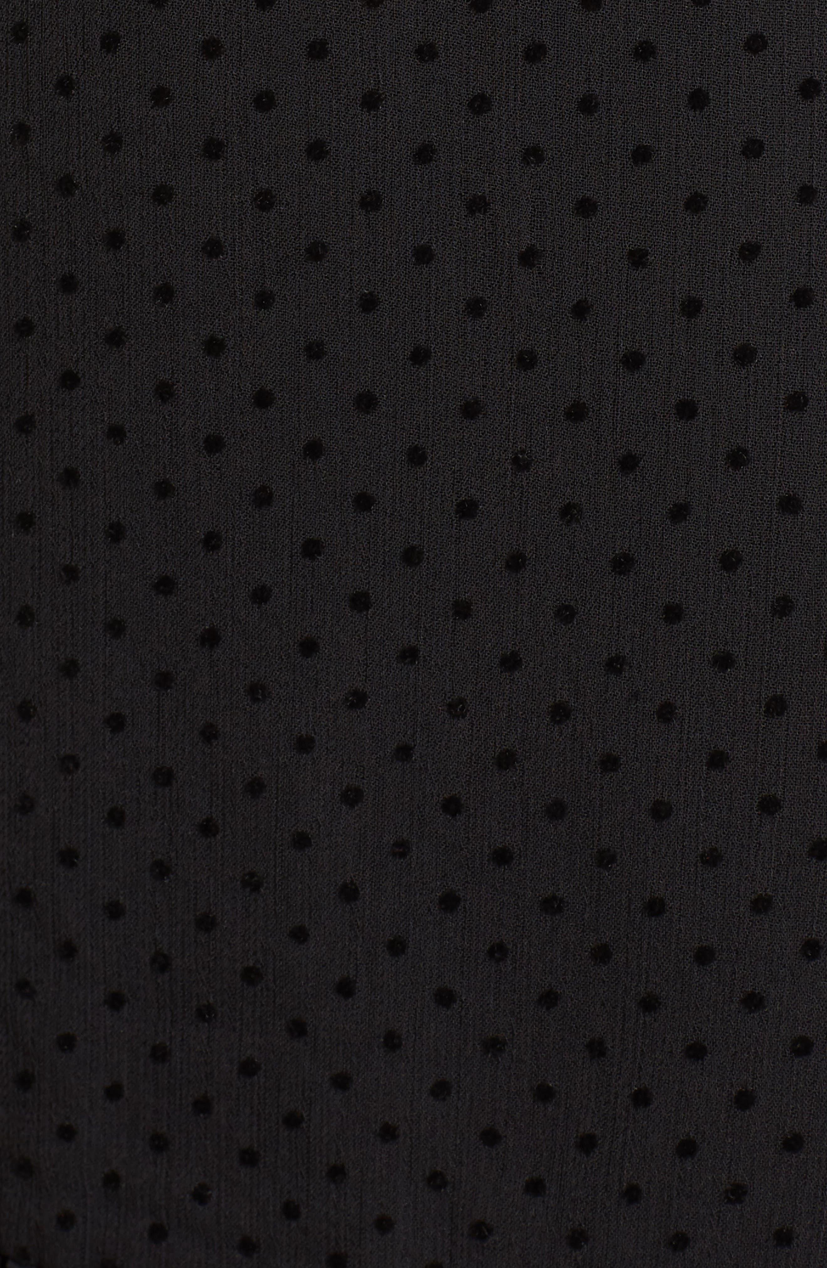 Horizons Bell Sleeve Minidress,                             Alternate thumbnail 6, color,                             Black