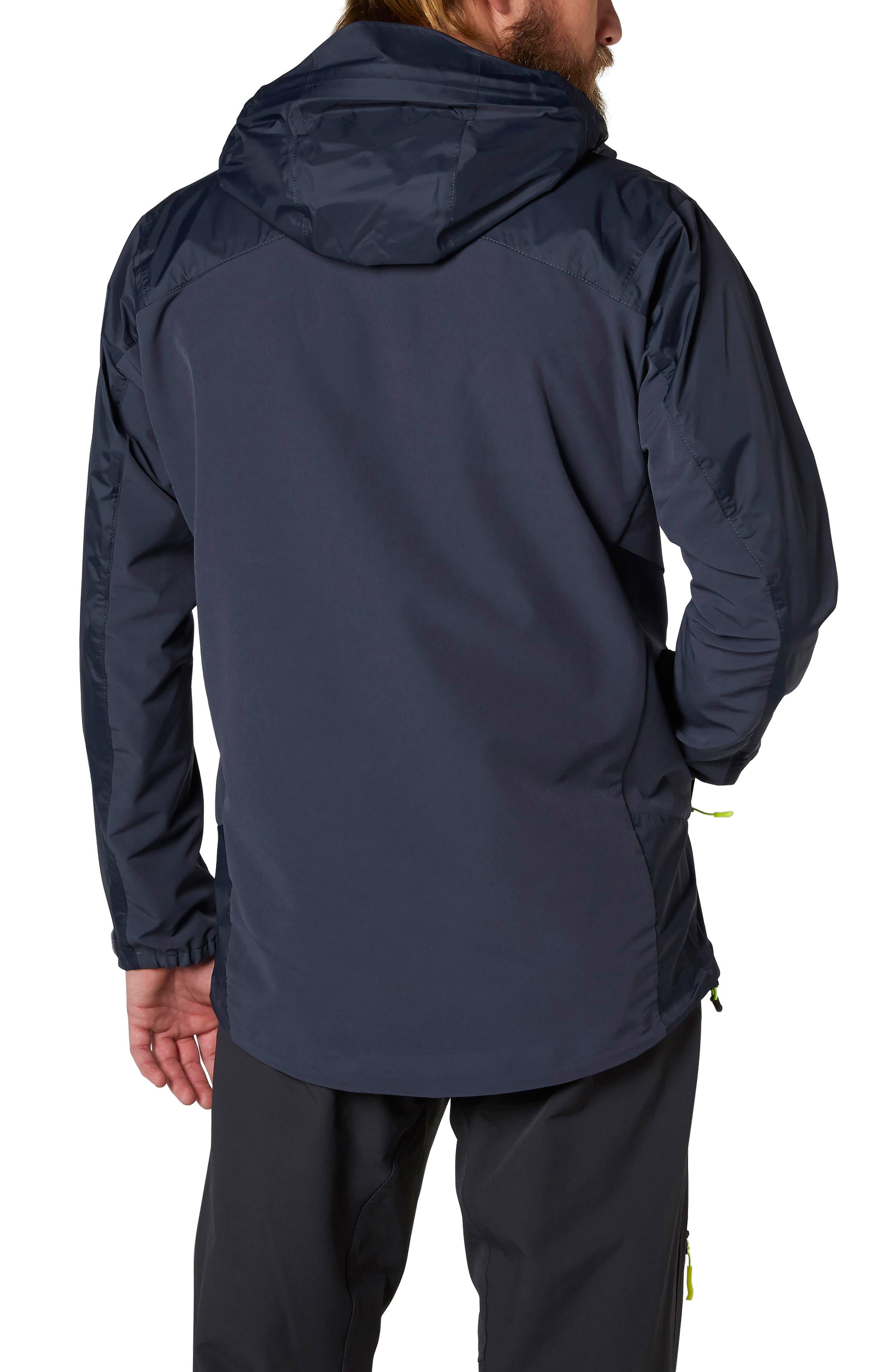Vanir Logr Regular Fit Waterproof Jacket,                             Alternate thumbnail 2, color,                             Graphite Blue