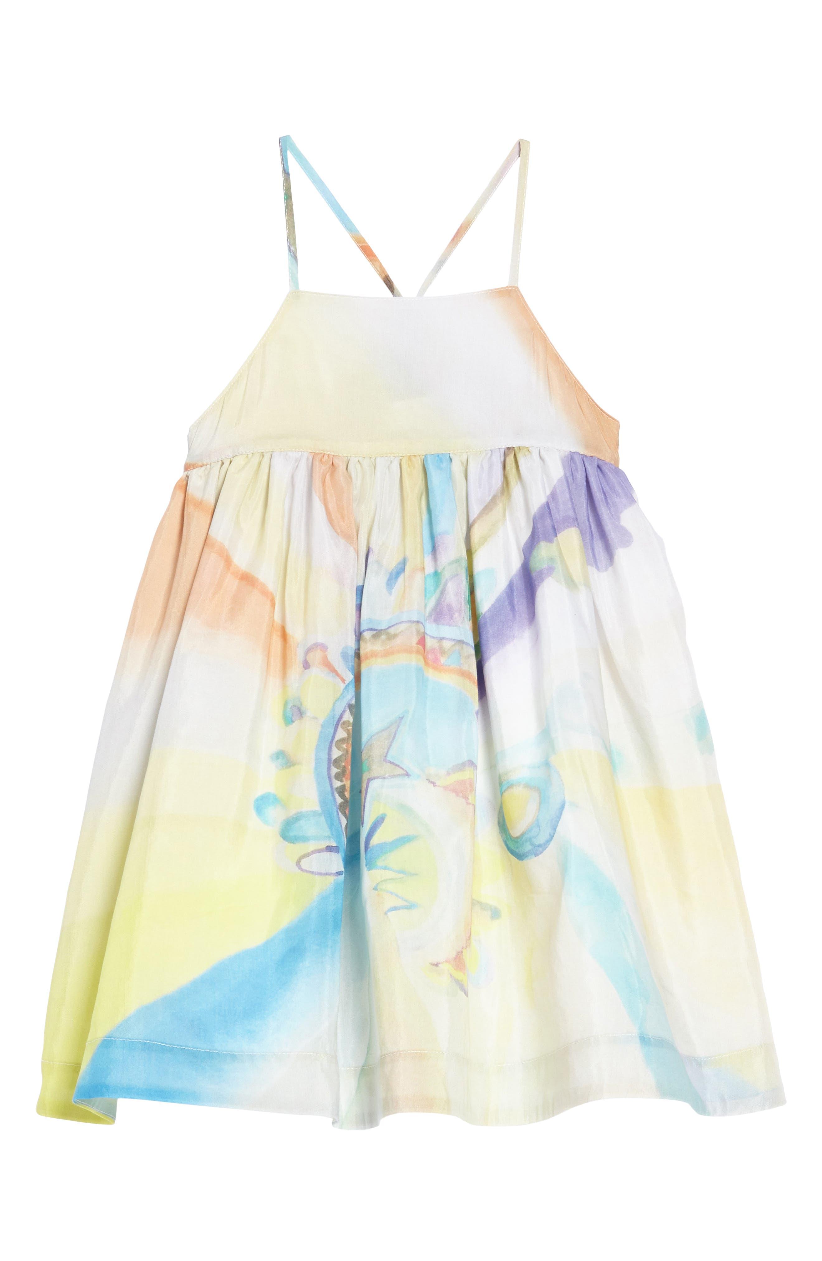 Stella McCartney Watercolor Print Sleeveless Dress (Toddler Girls, Little Girls & Big Girls)