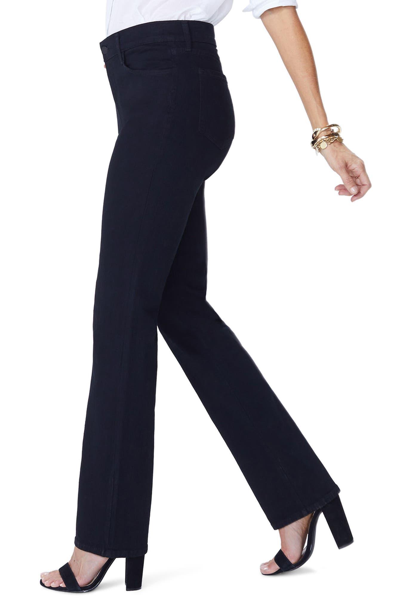 Marilyn Straight Jeans,                             Alternate thumbnail 3, color,                             Black