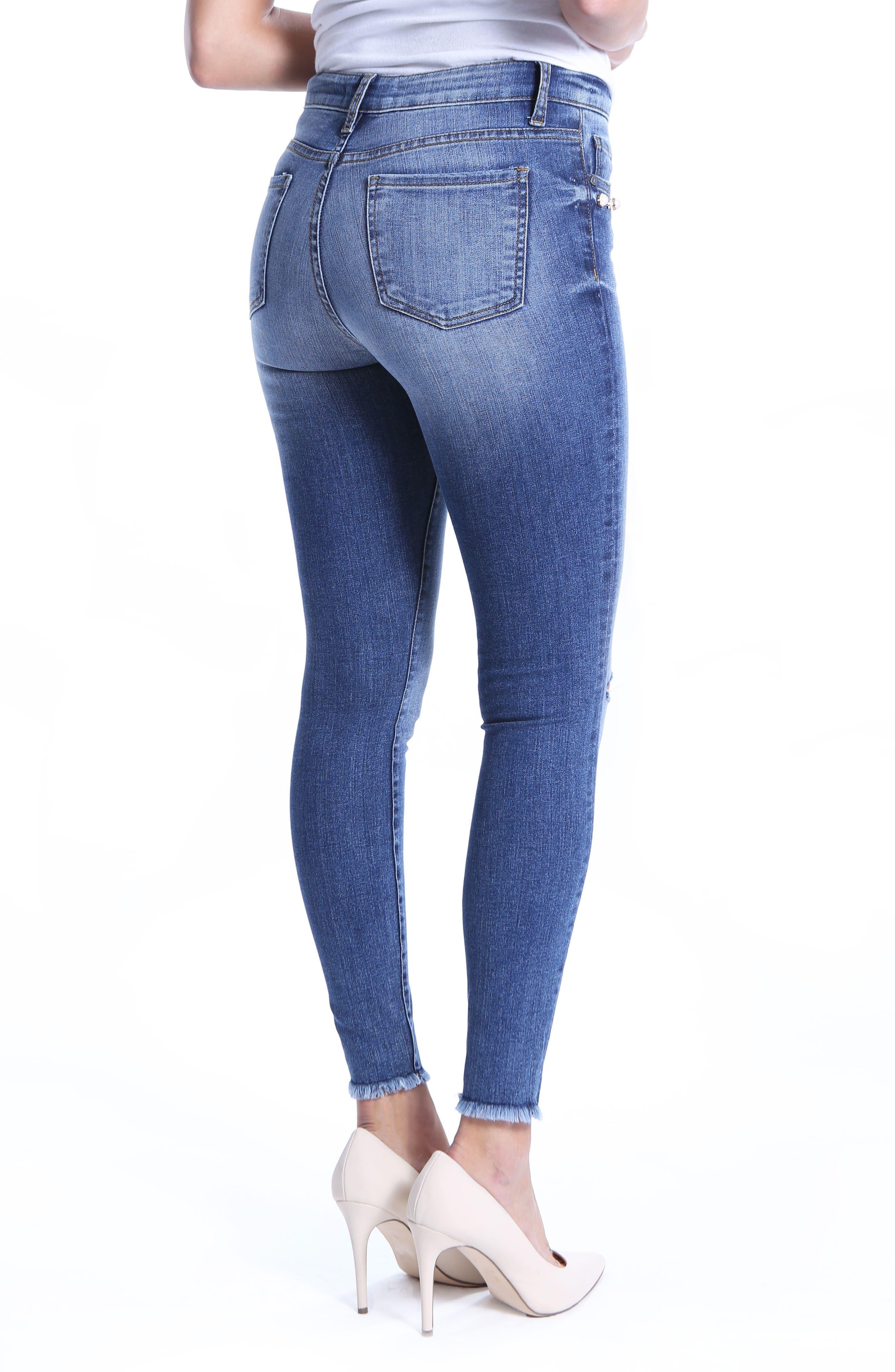 Embellished Ankle Skinny Jeans,                             Alternate thumbnail 2, color,                             Regular