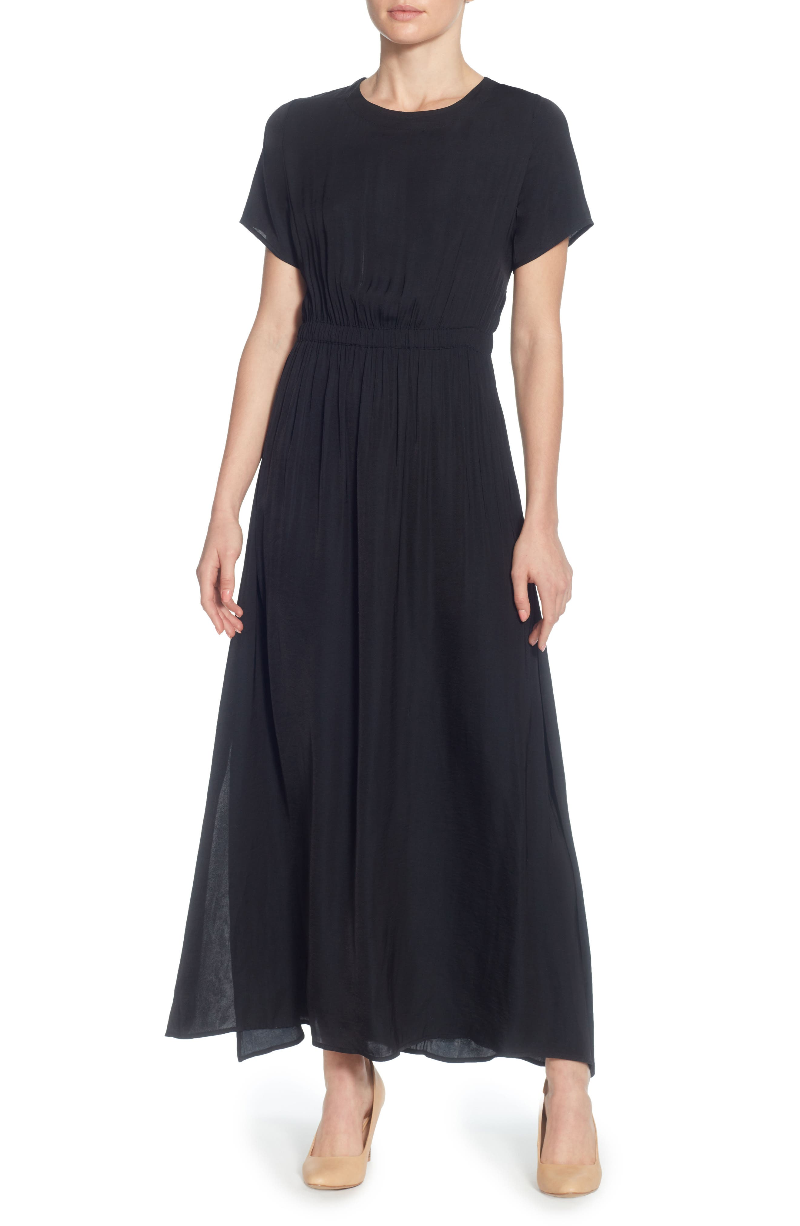 Lua Maxi Dress,                         Main,                         color, Black