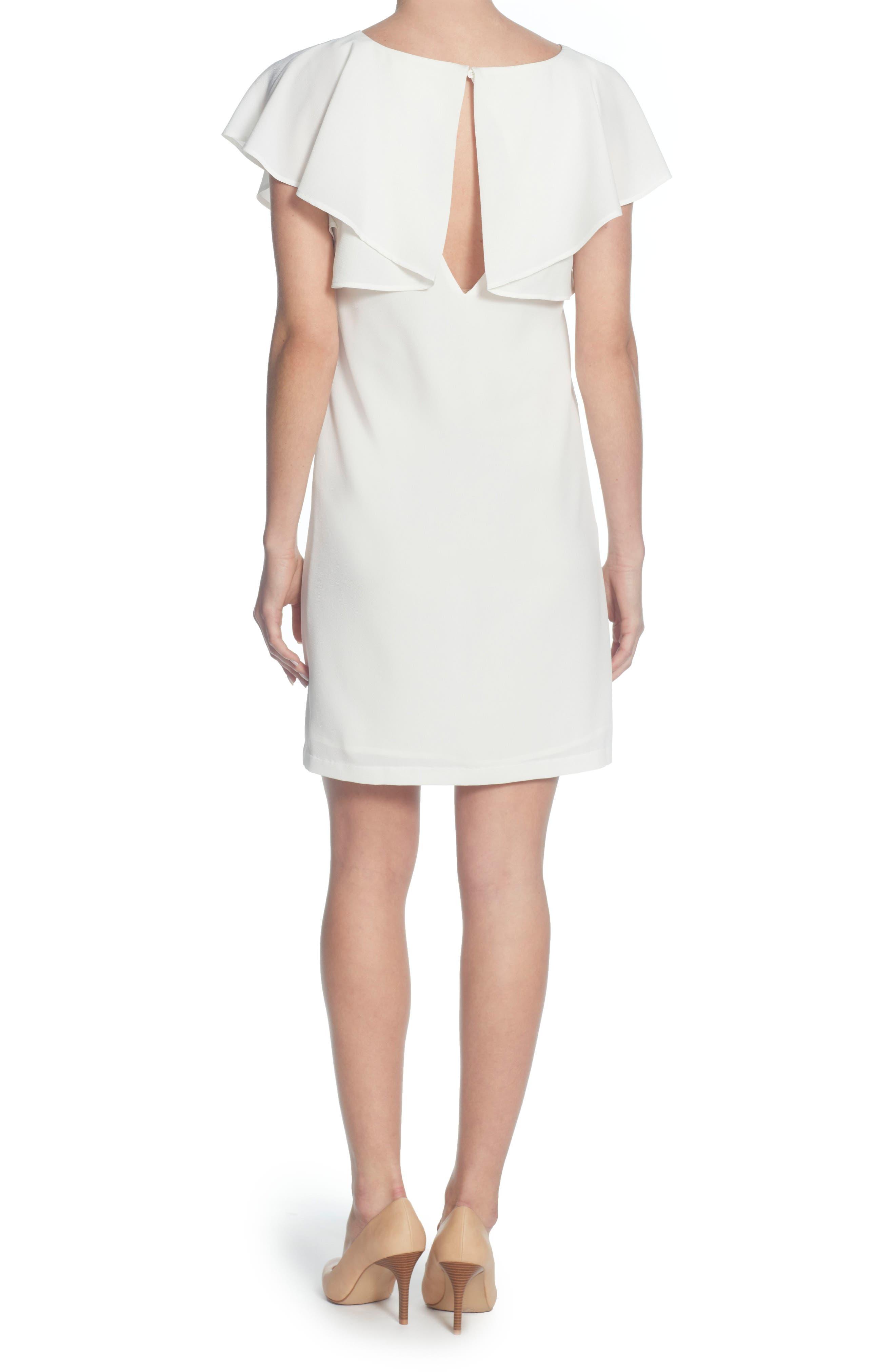 Daiva Shift Dress,                             Alternate thumbnail 2, color,                             Bright White