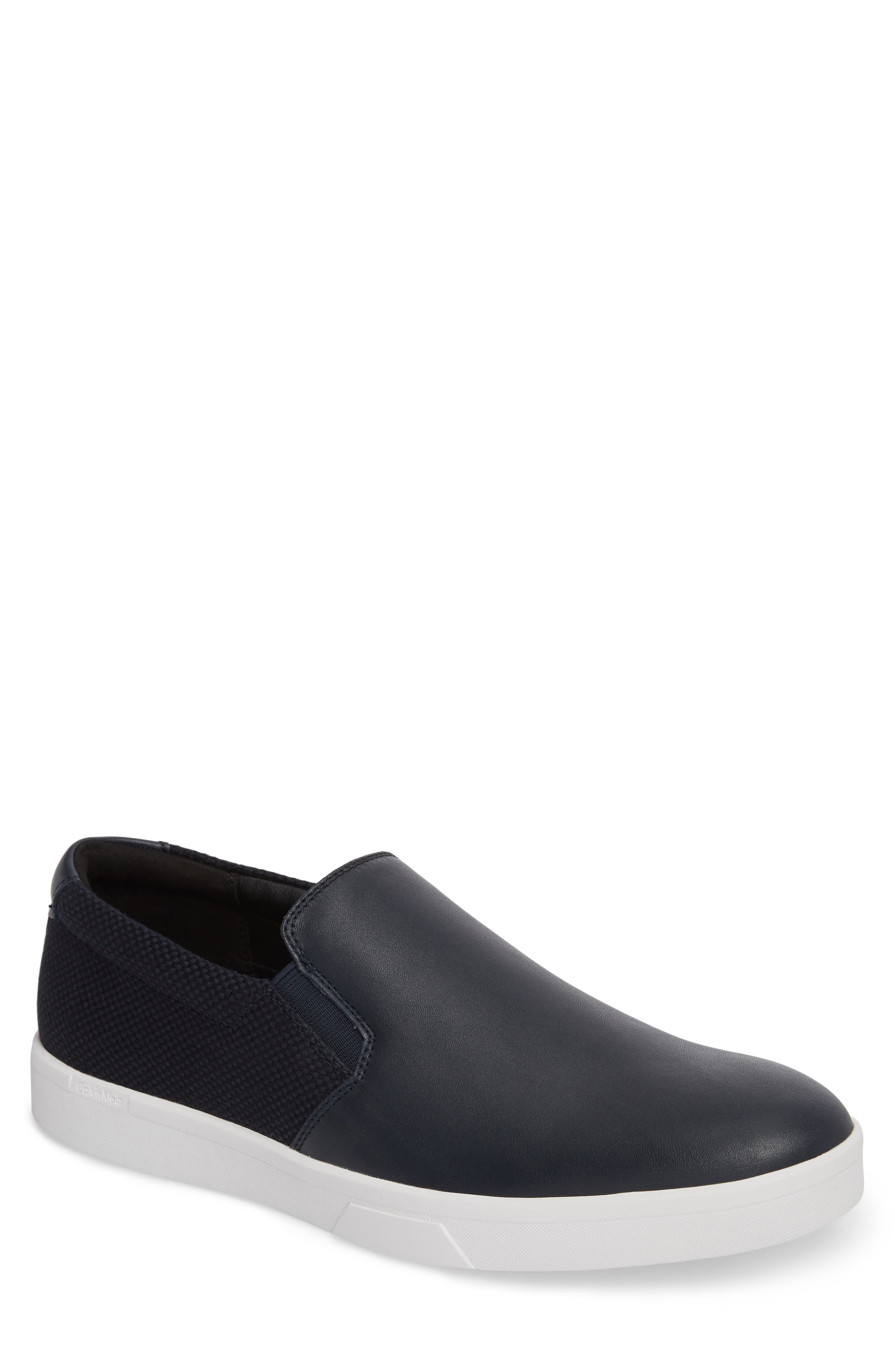 'Ivo' Slip-On,                         Main,                         color, Dark Navy Leather