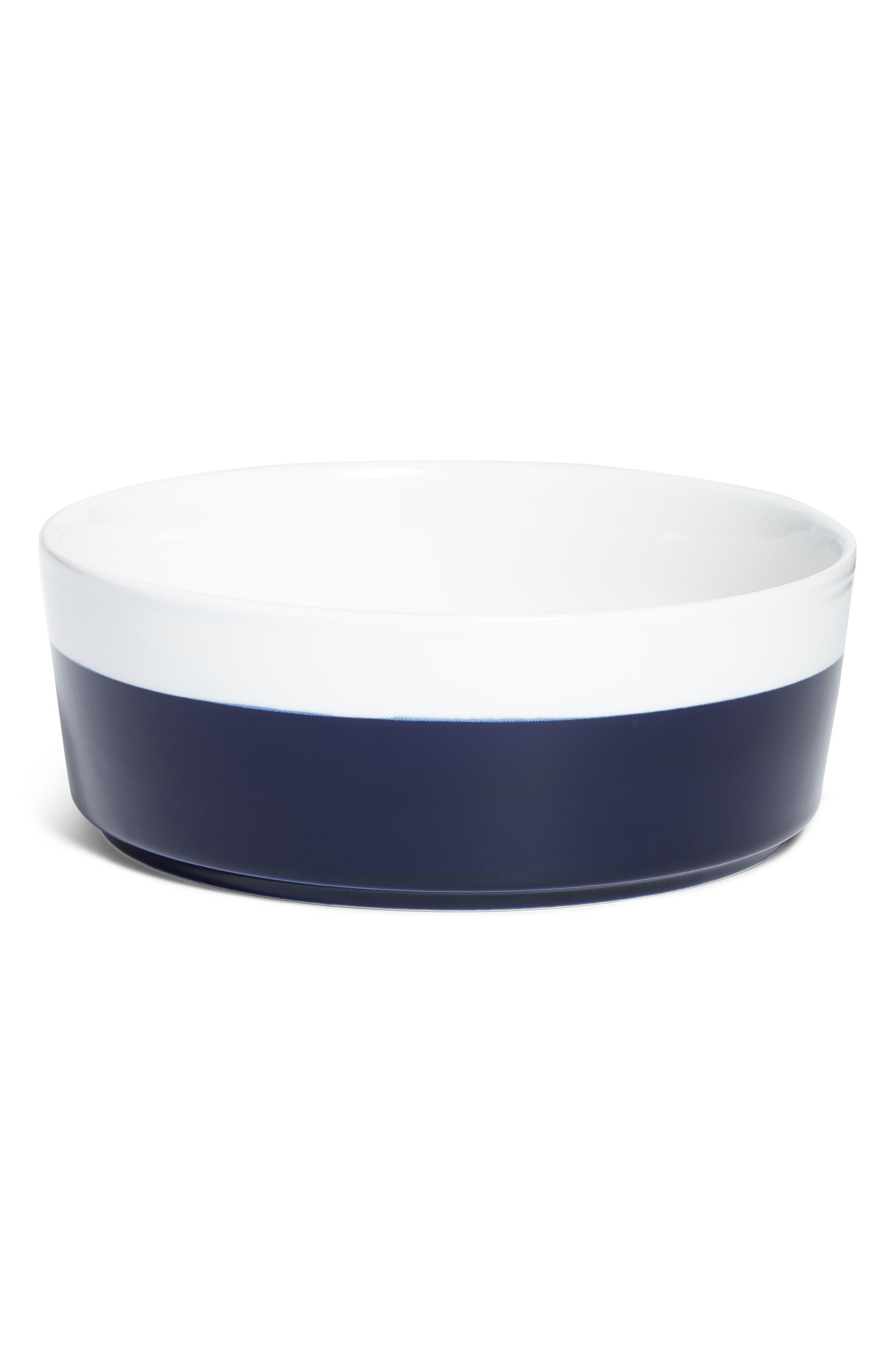 Dipper Ceramic Dog Bowl,                         Main,                         color, Midnight L