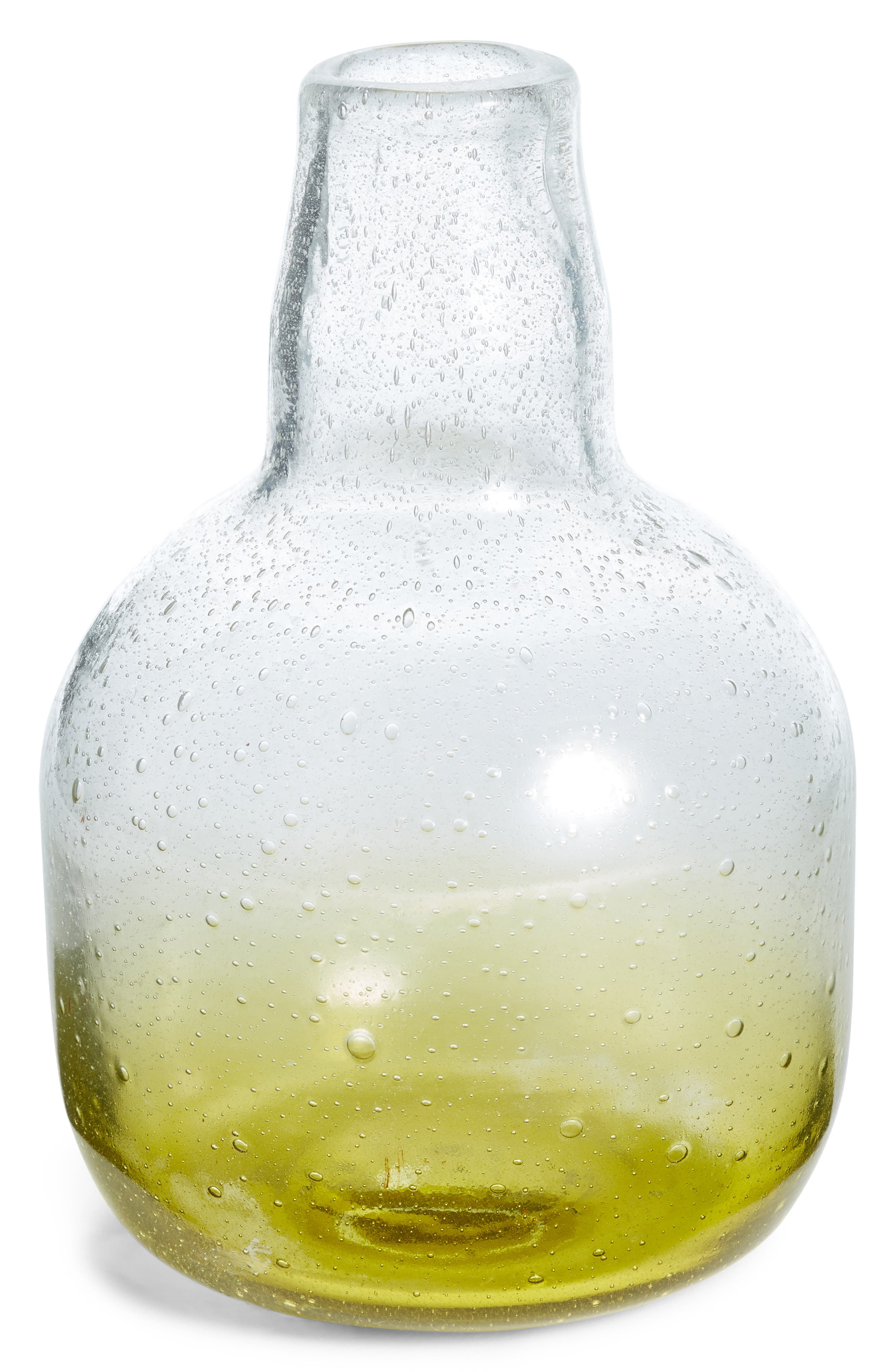 Small Tinted Glass Vase,                         Main,                         color, Olive