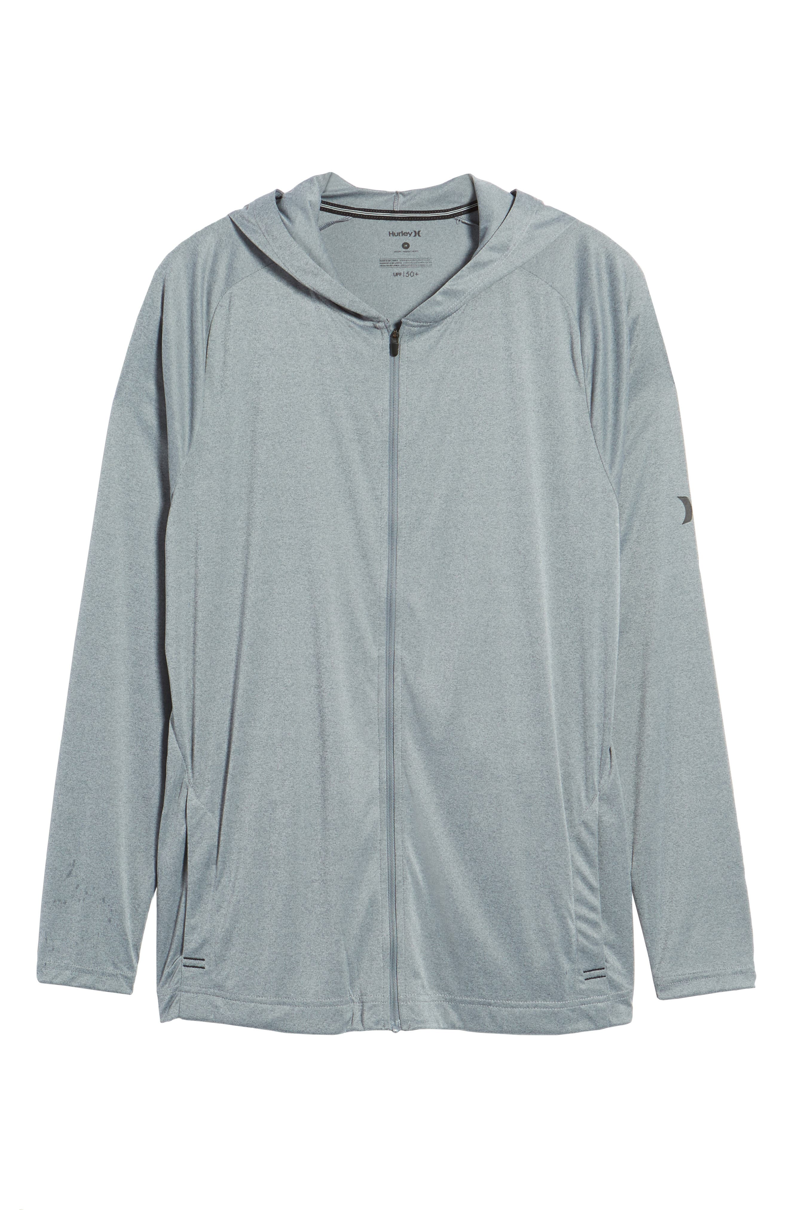 Icon Quick Dry Zip Hoodie,                             Alternate thumbnail 6, color,                             Cool Grey Htr