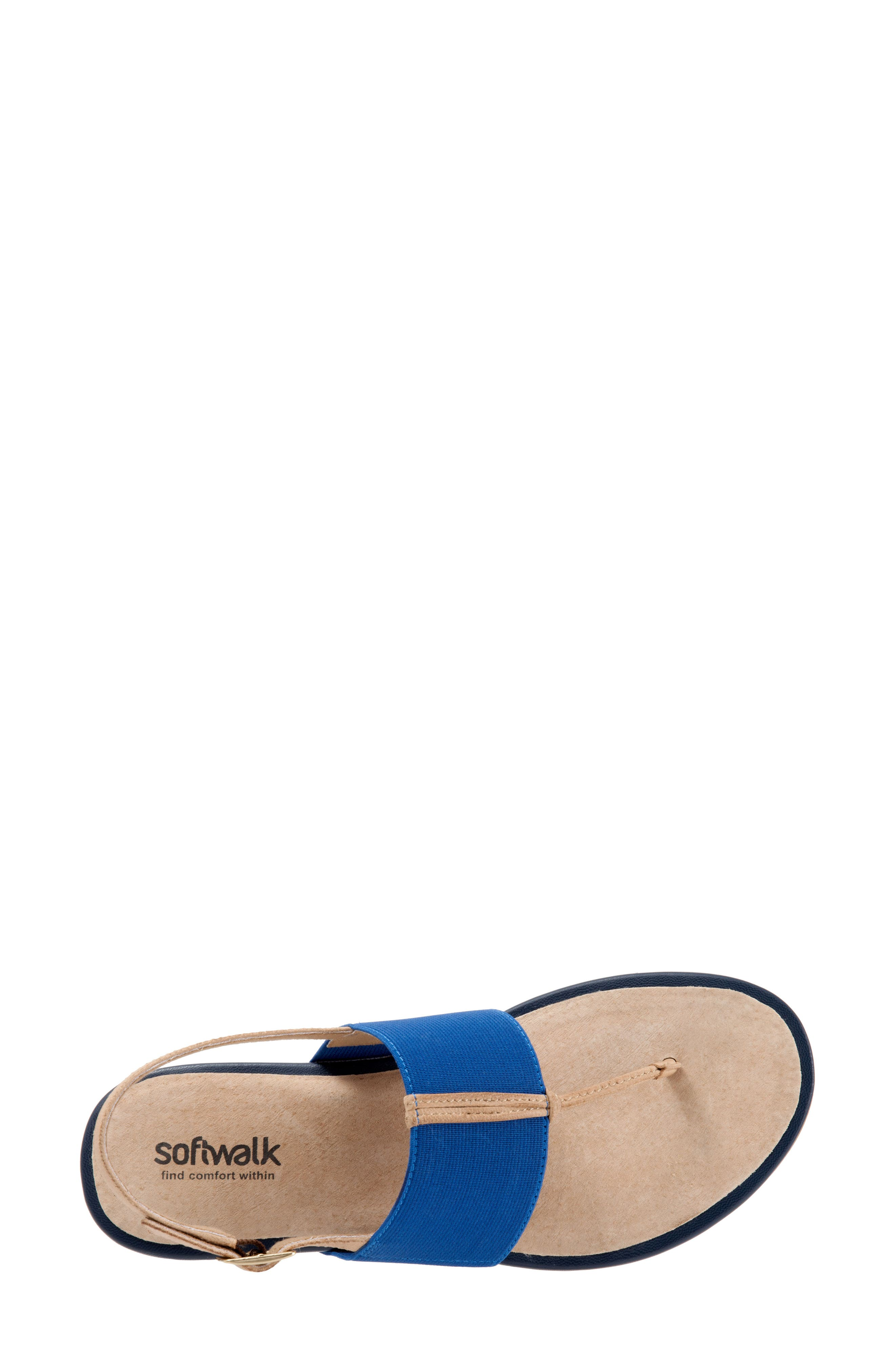 Daytona Sandal,                             Alternate thumbnail 5, color,                             Navy/ Tan Leather