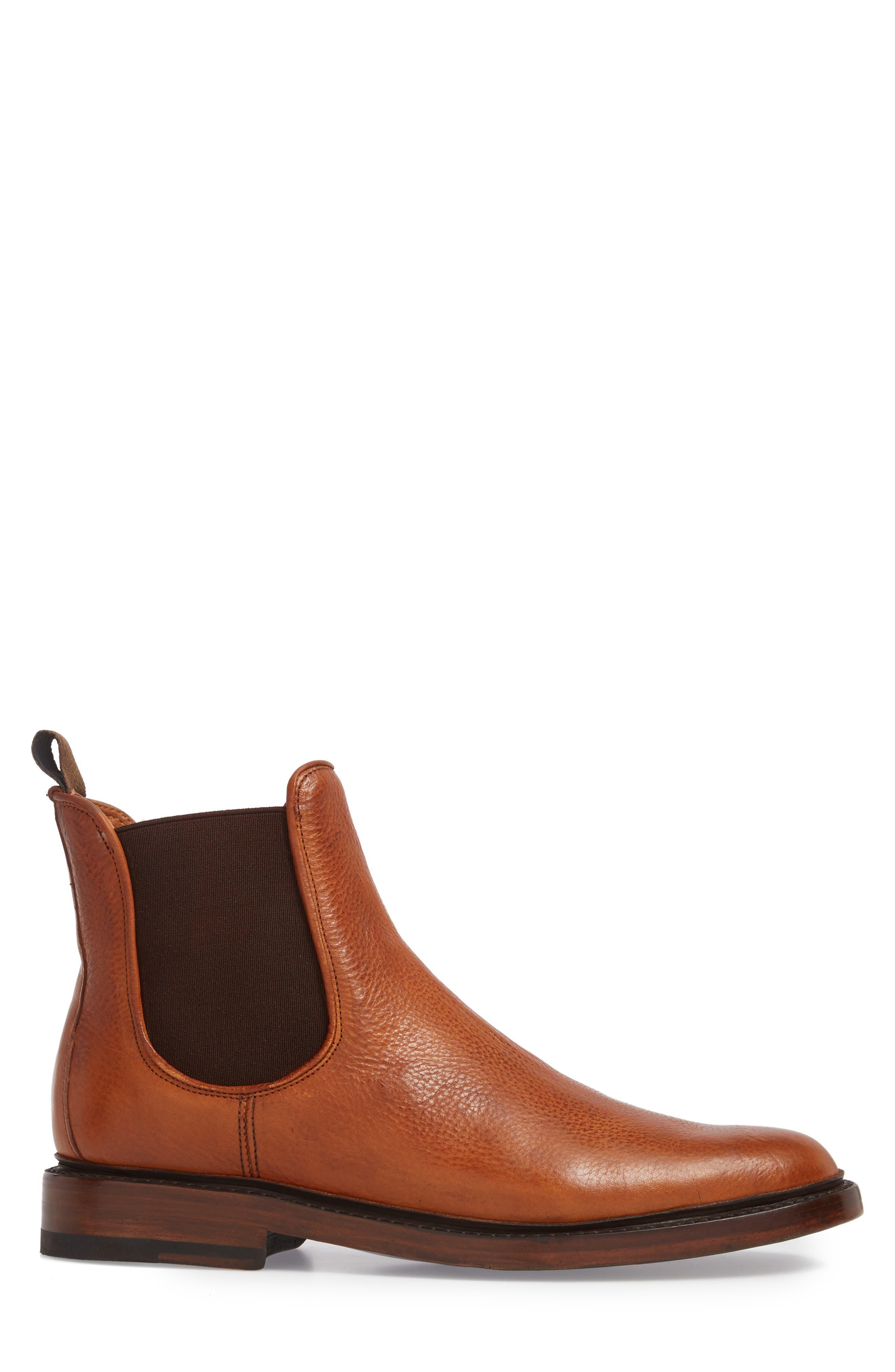 Jones Chelsea Boot,                             Alternate thumbnail 3, color,                             Caramel Leather