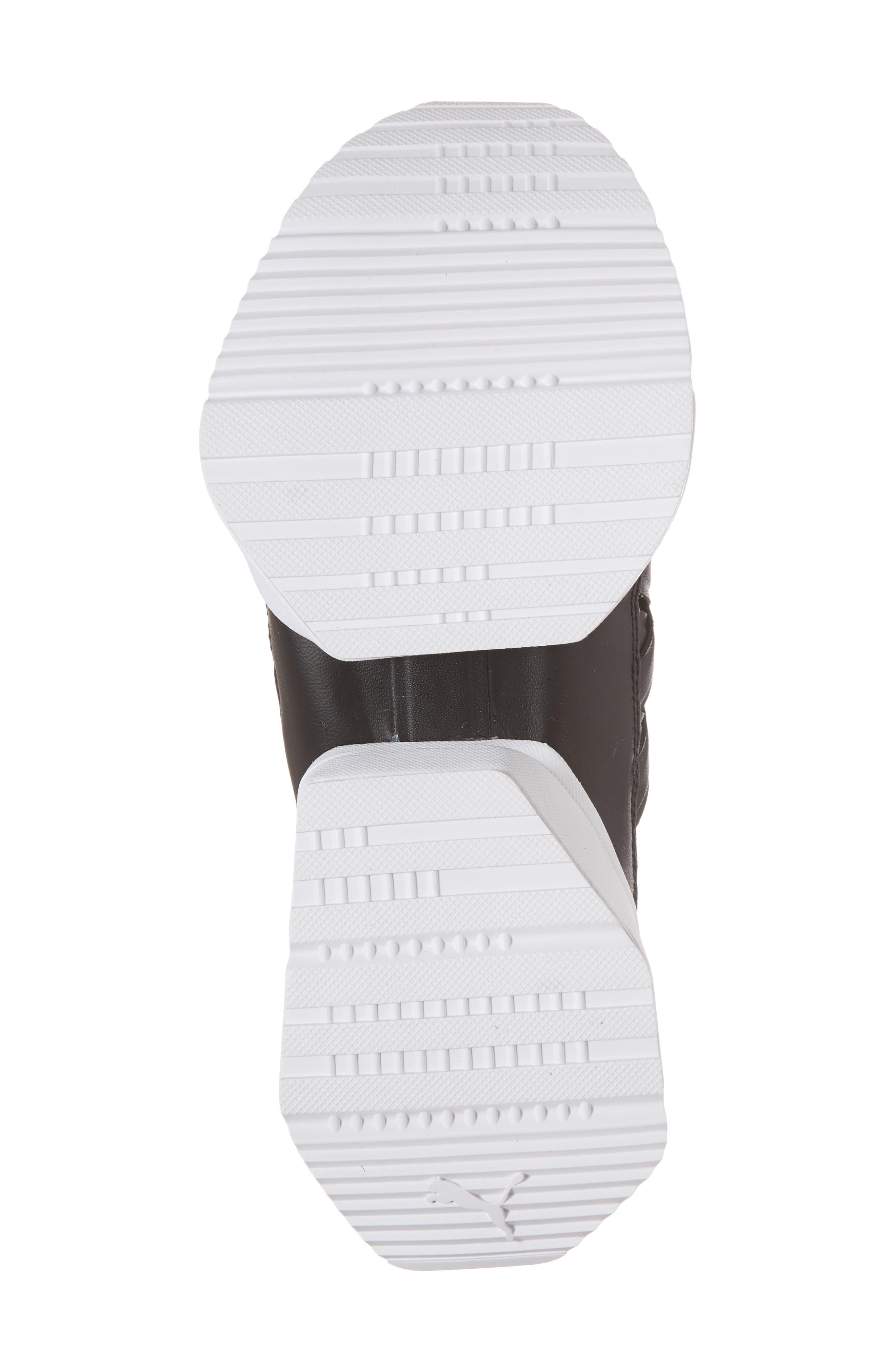 Muse Echo Satin En Pointe High Top Sneaker,                             Alternate thumbnail 6, color,                             Puma Black/ Puma White