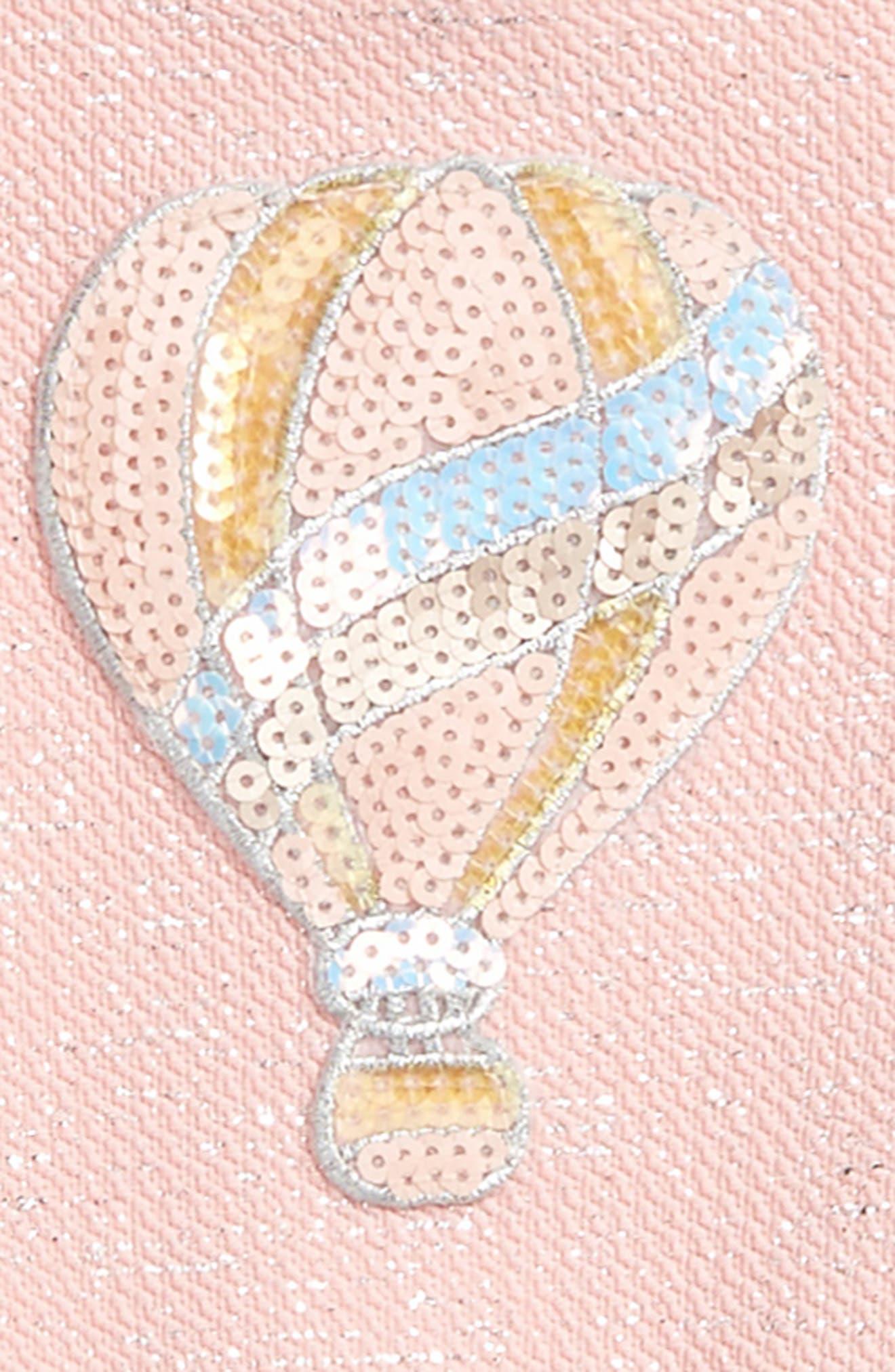 Sequin Balloon Skater Dress,                             Alternate thumbnail 2, color,                             Pink