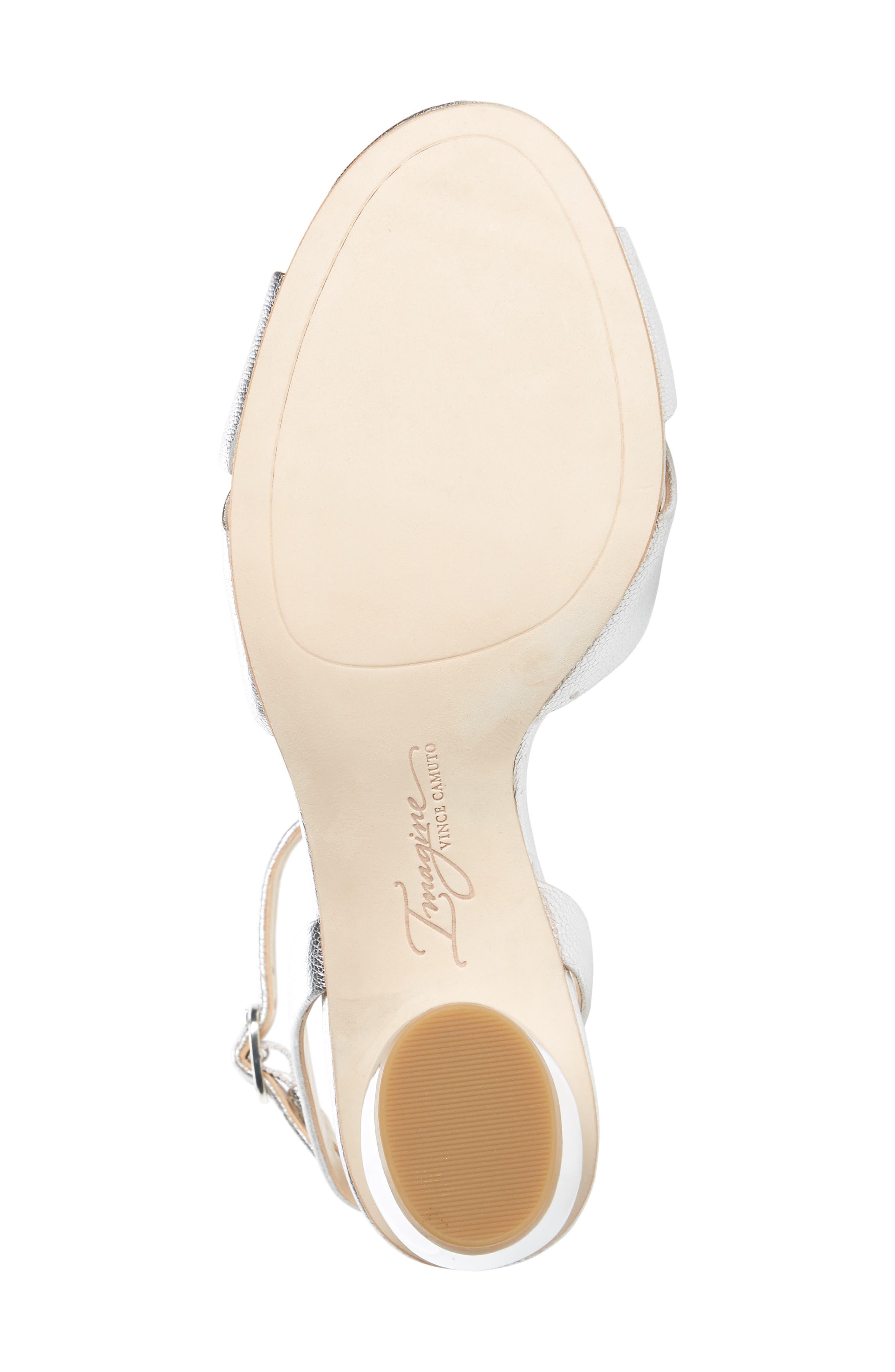 Leven Sandal,                             Alternate thumbnail 6, color,                             Platinum Leather