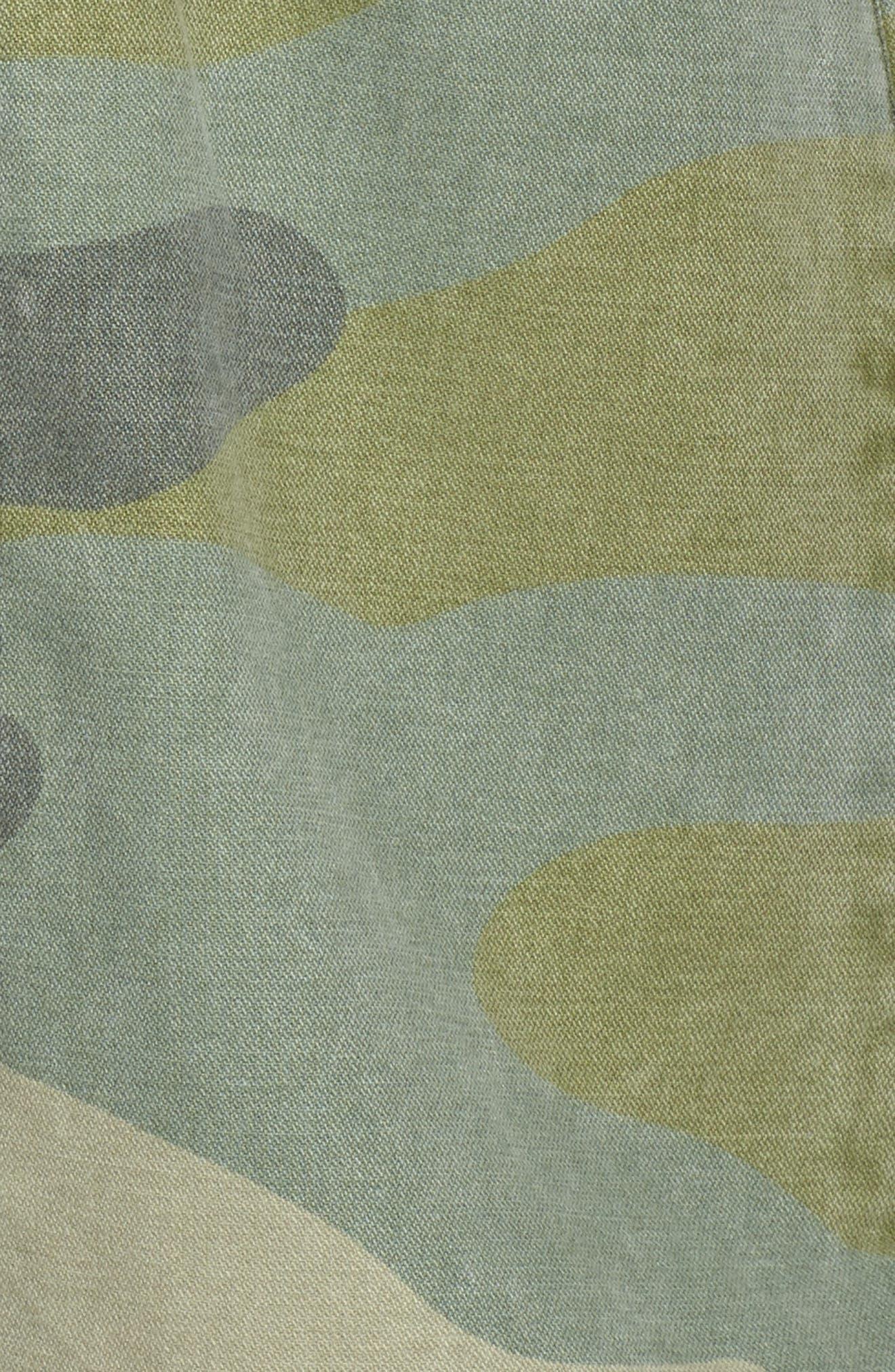 High/Low Shirt Jacket,                             Alternate thumbnail 6, color,                             Light Green Camo