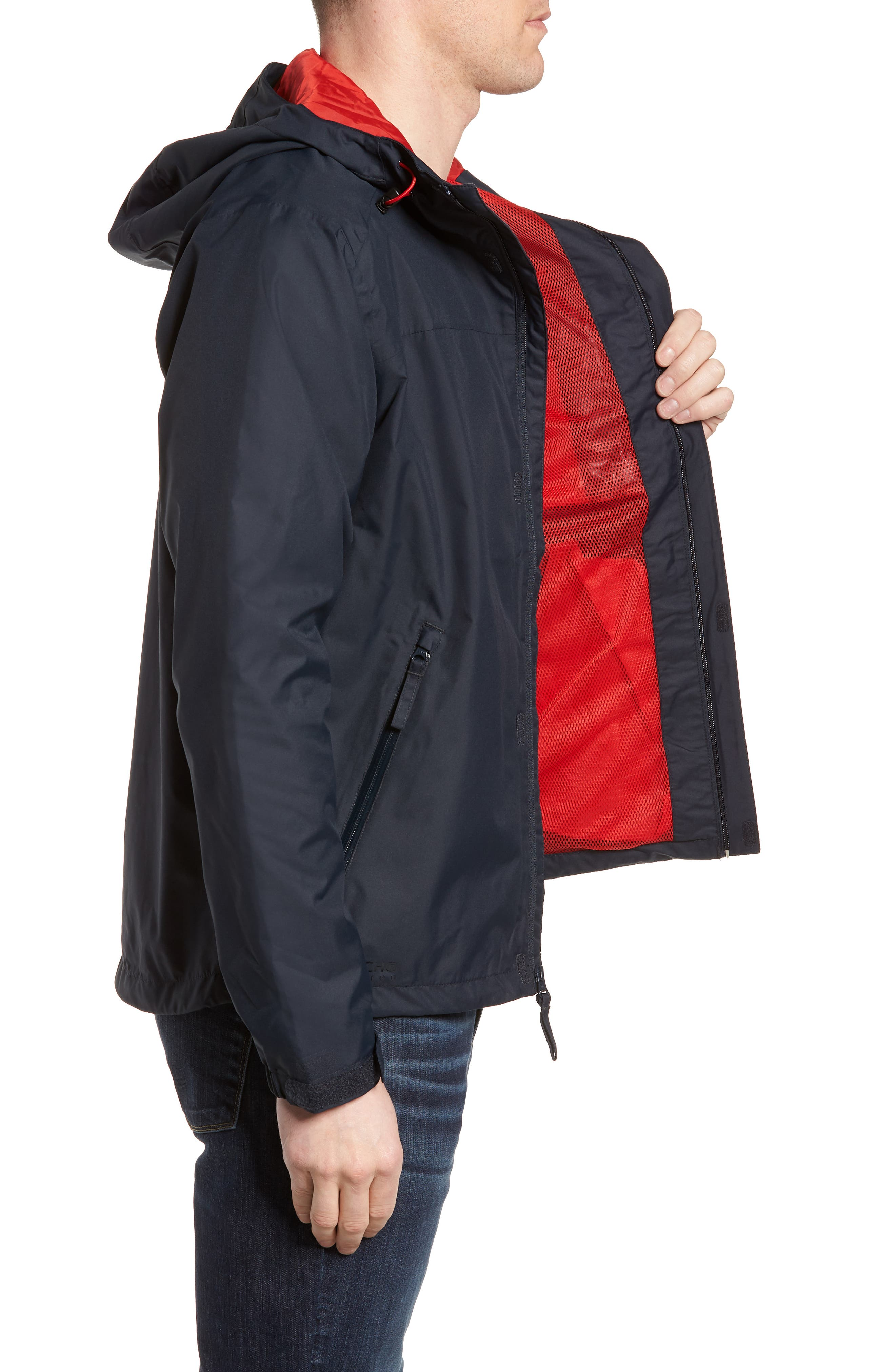 'Vancouver' Packable Rain Jacket,                             Alternate thumbnail 3, color,                             Navy/ Navy