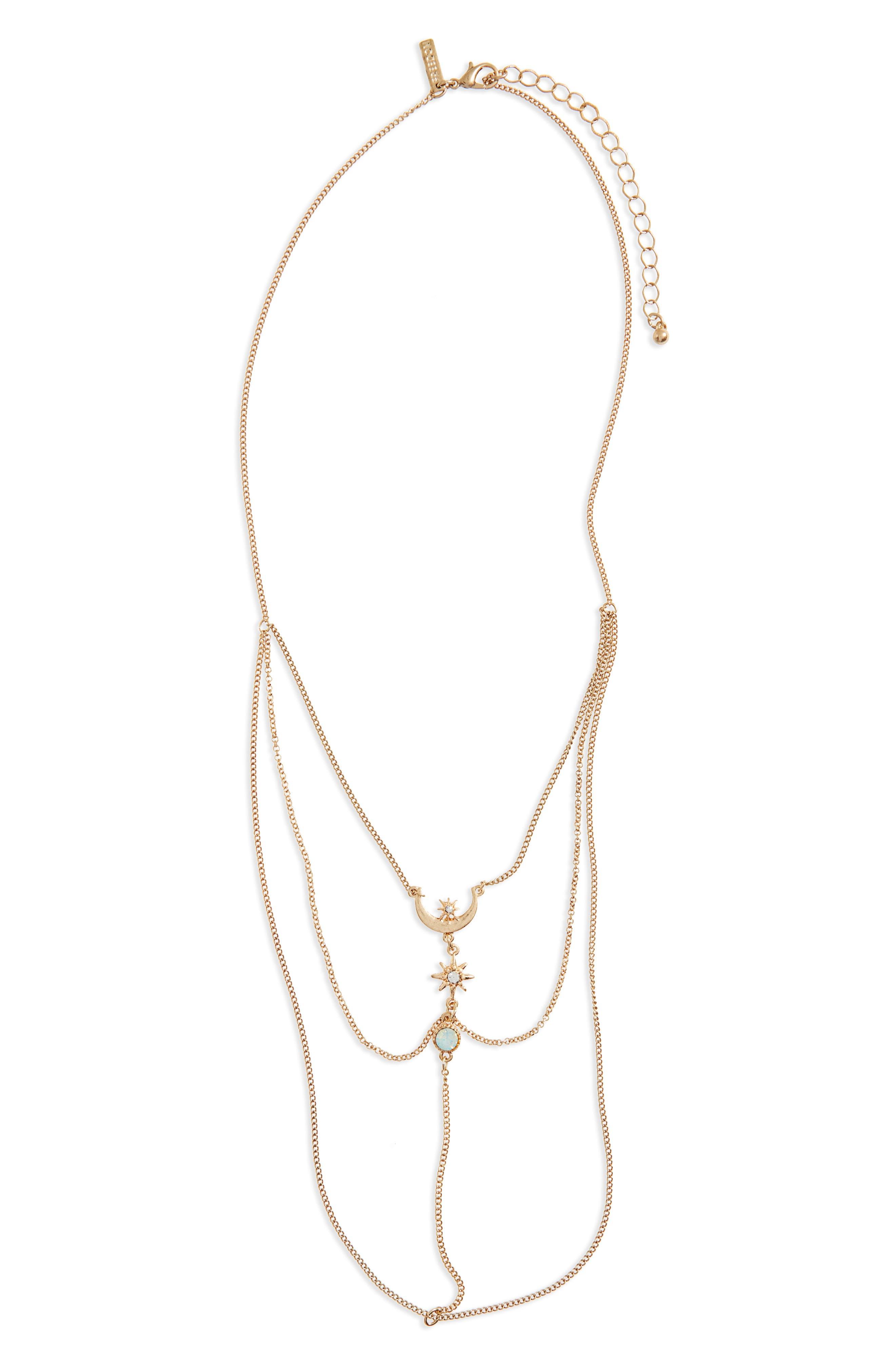Topshop Star Tassel Ladder Necklace