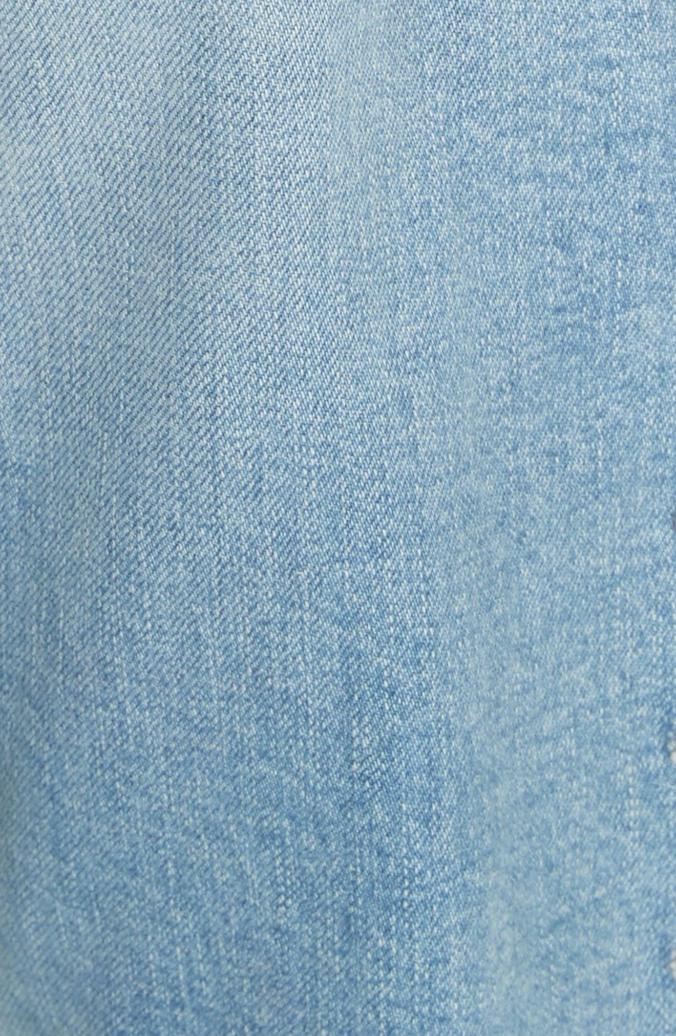 Ines Girlfriend Crop Jeans,                             Alternate thumbnail 5, color,                             Surfside