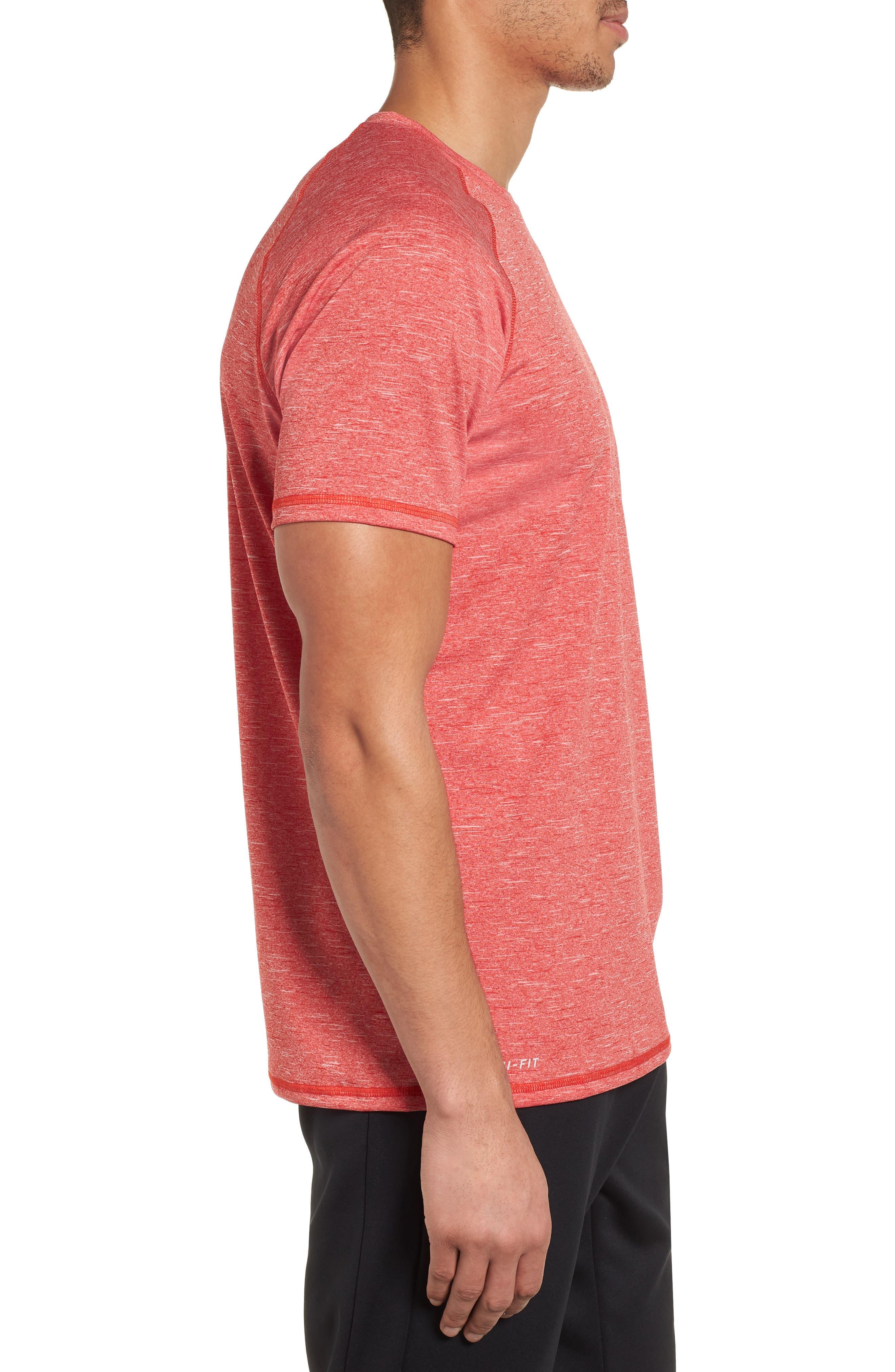 Dry Hydroguard T-Shirt,                             Alternate thumbnail 3, color,                             University Red