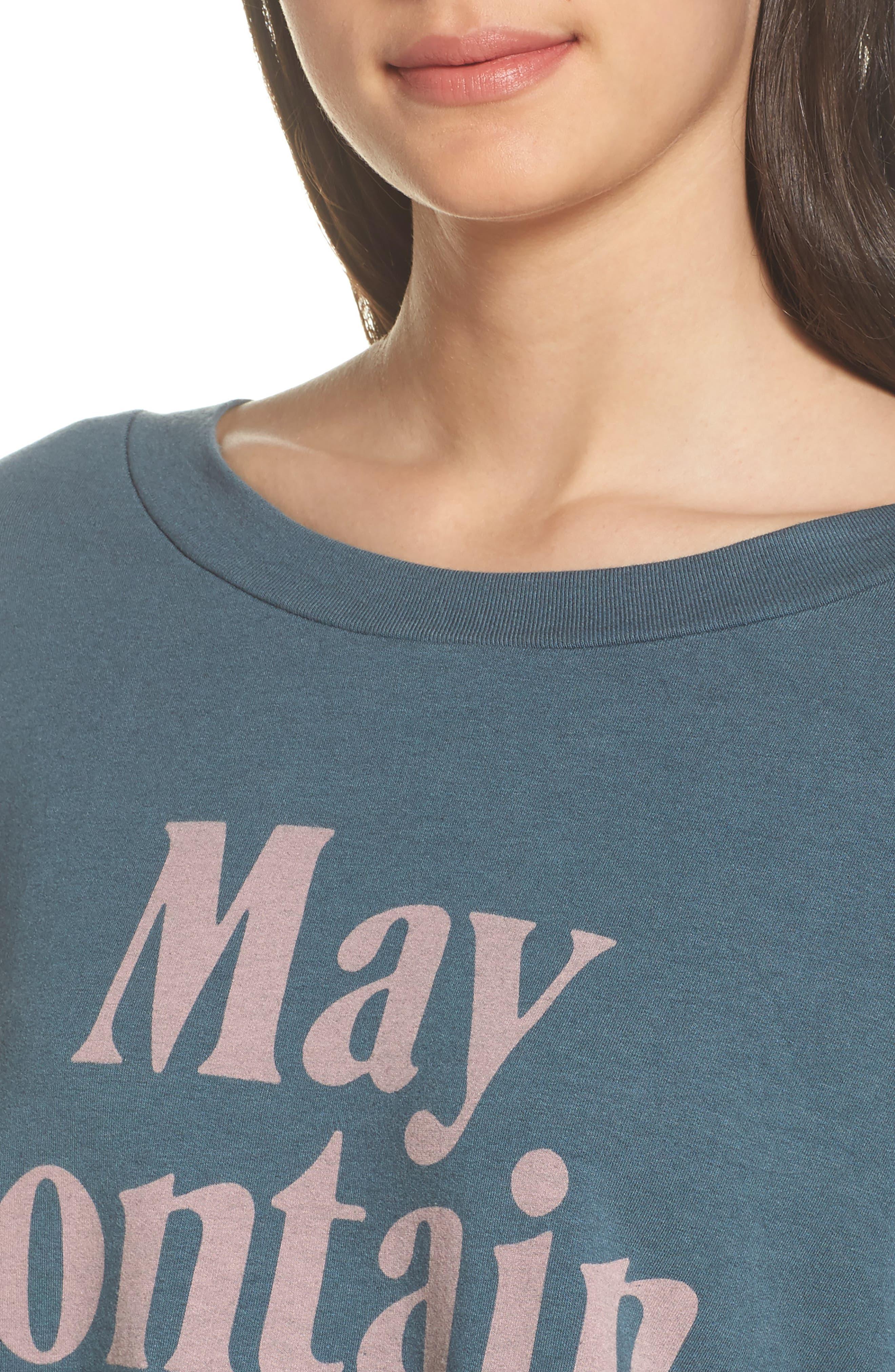 May Contain Wine Sweatshirt,                             Alternate thumbnail 5, color,                             Gunmetal