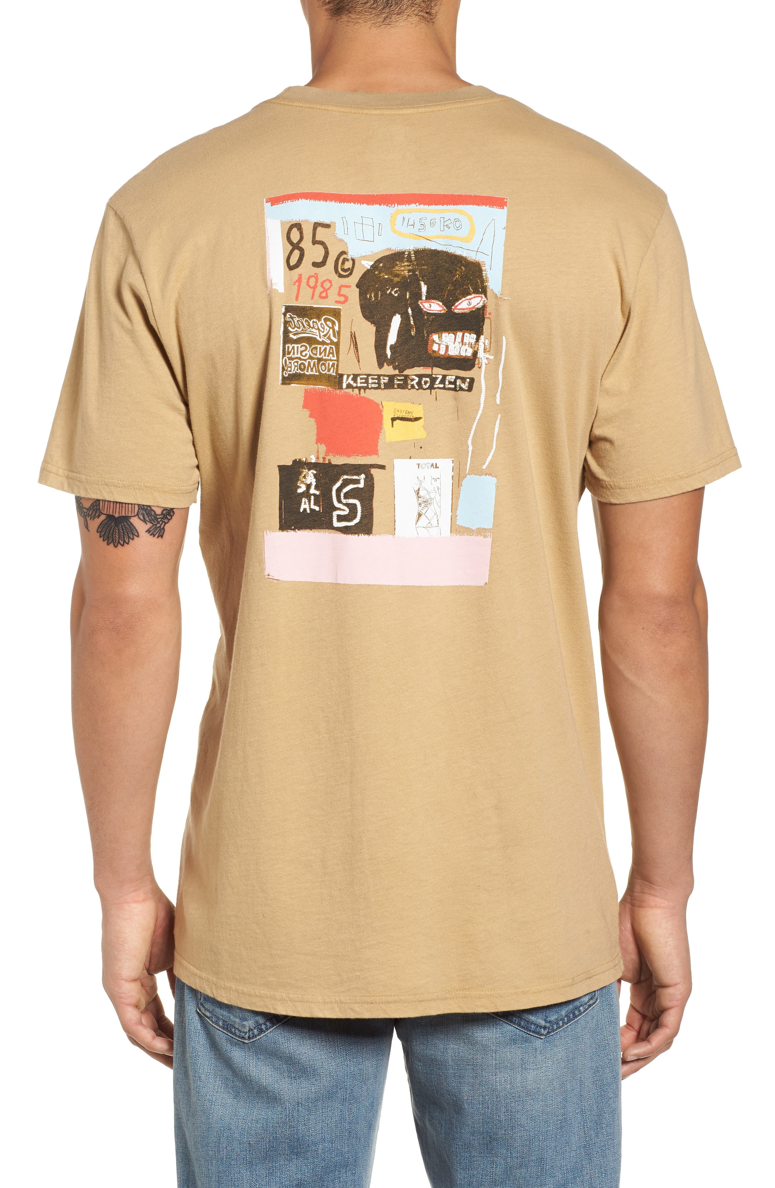 x Warhol Eighty Graphic T-Shirt,                             Alternate thumbnail 2, color,                             Straw