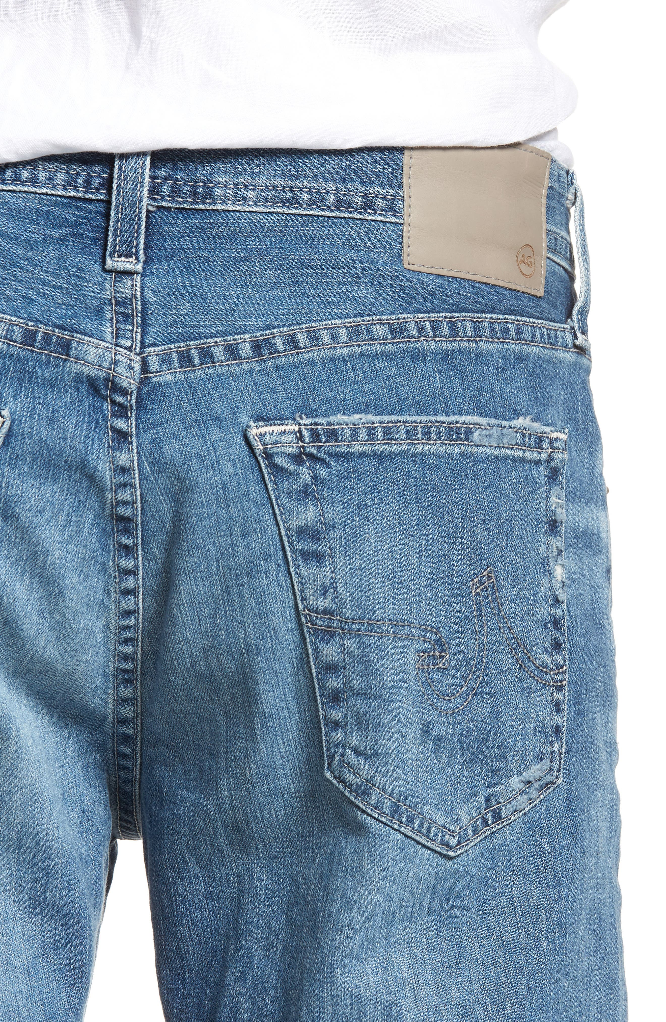 Everett Slim Straight Leg Jeans,                             Alternate thumbnail 4, color,                             15 Years Swept Up