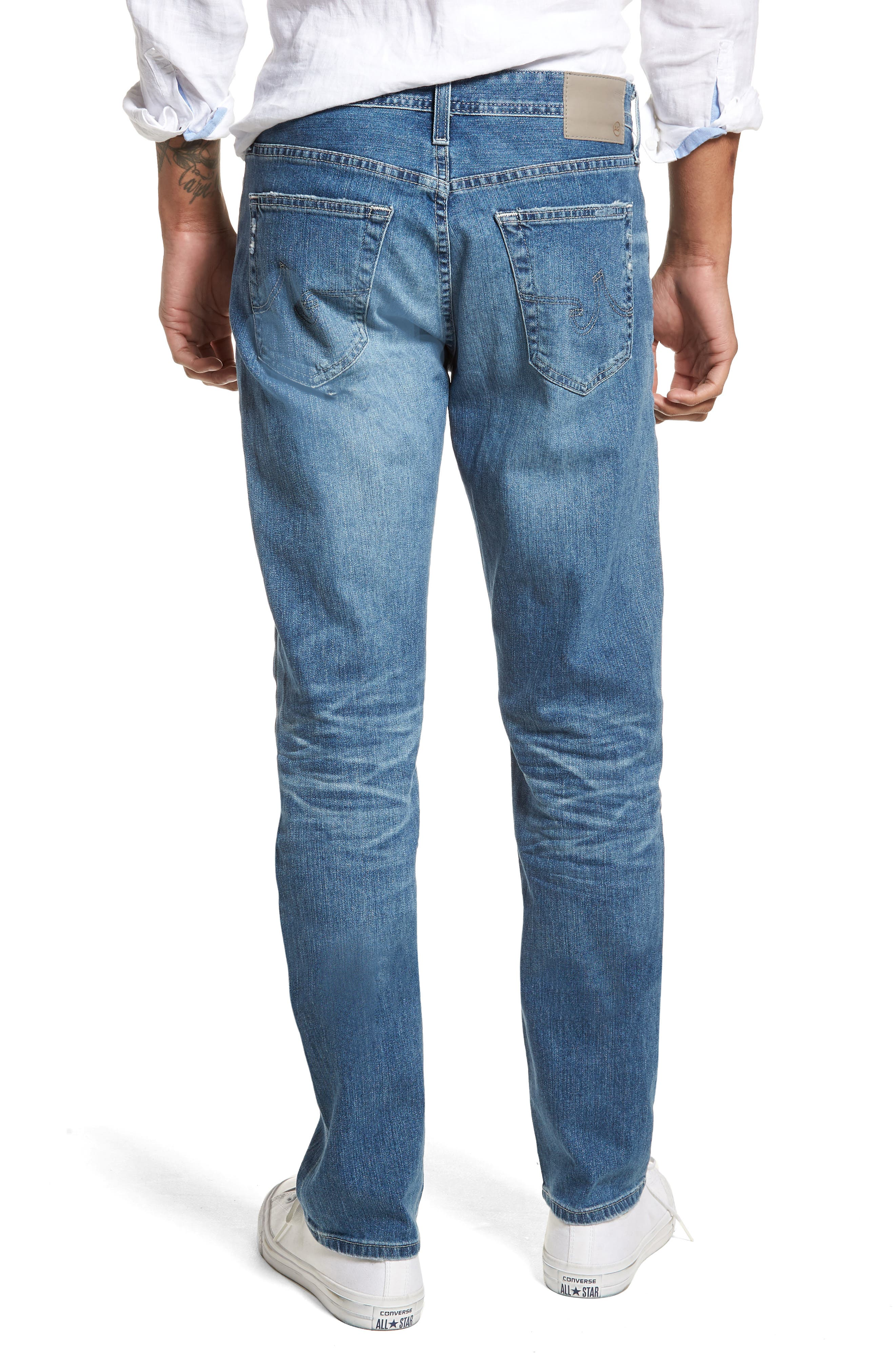 Everett Slim Straight Leg Jeans,                             Alternate thumbnail 2, color,                             15 Years Swept Up