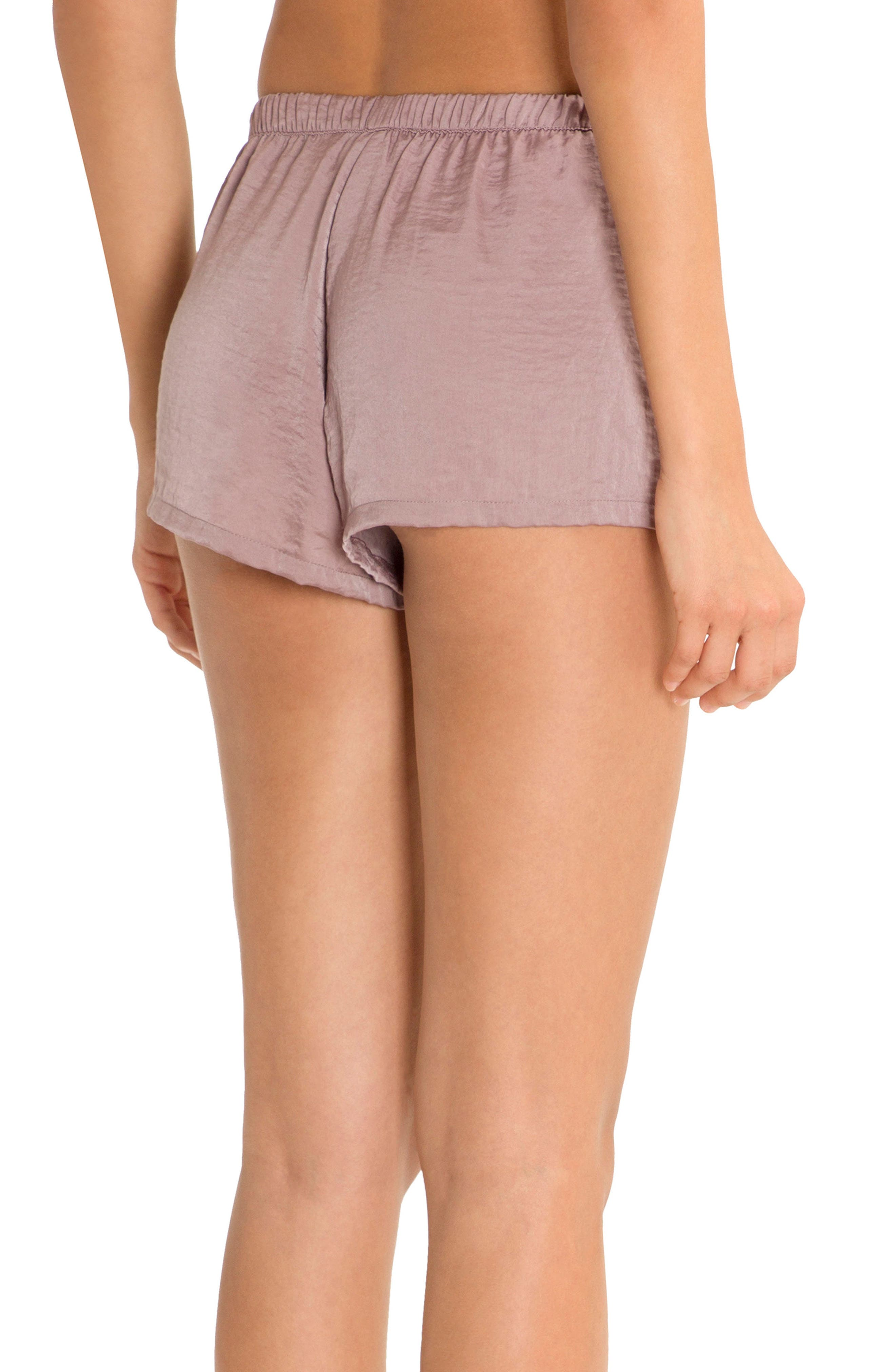 Pajama Shorts,                             Alternate thumbnail 2, color,                             Lilac
