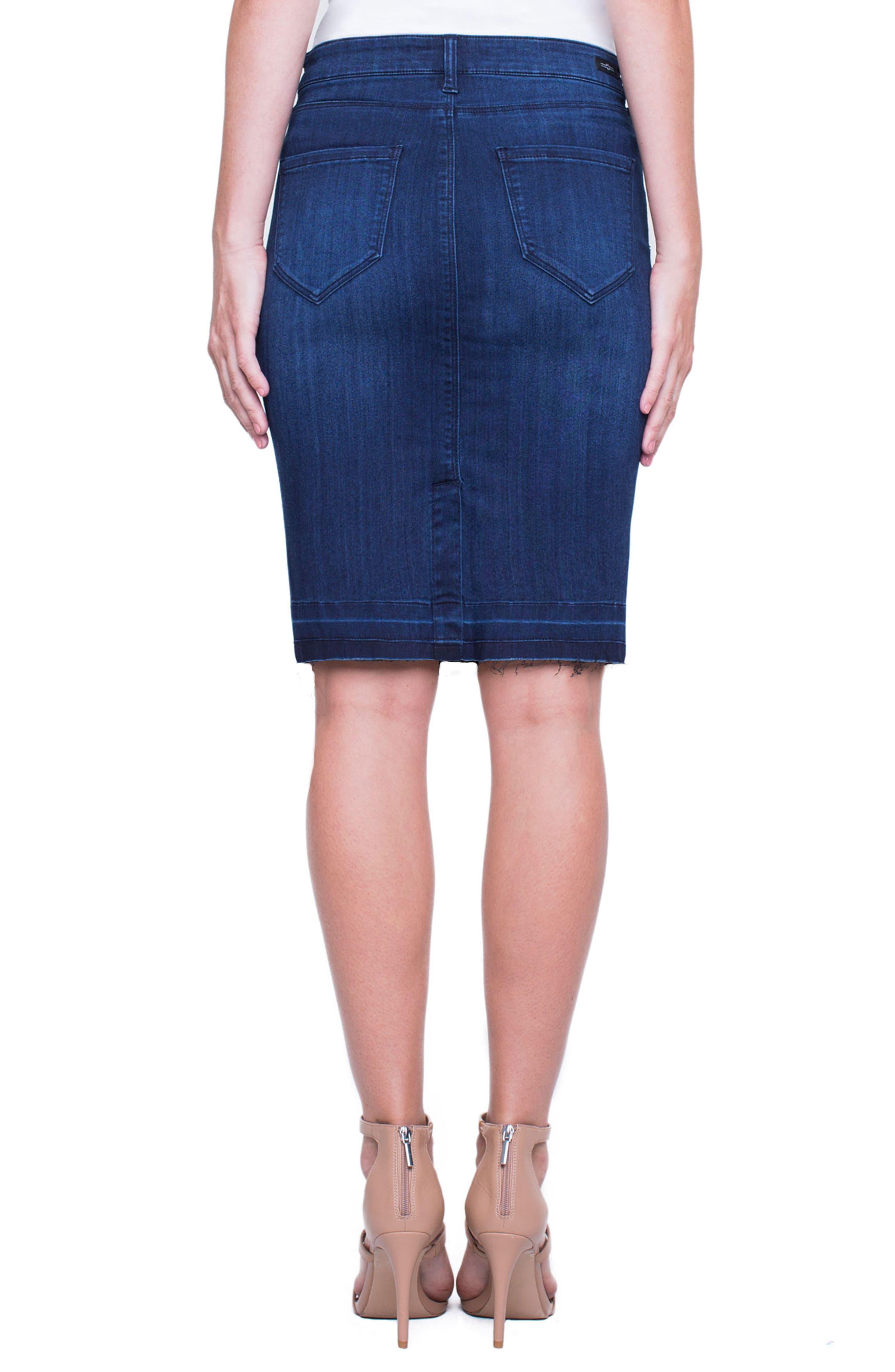 Alternate Image 2  - Liverpool Jeans Company Denim Pencil Skirt (Estrella Med Dark)