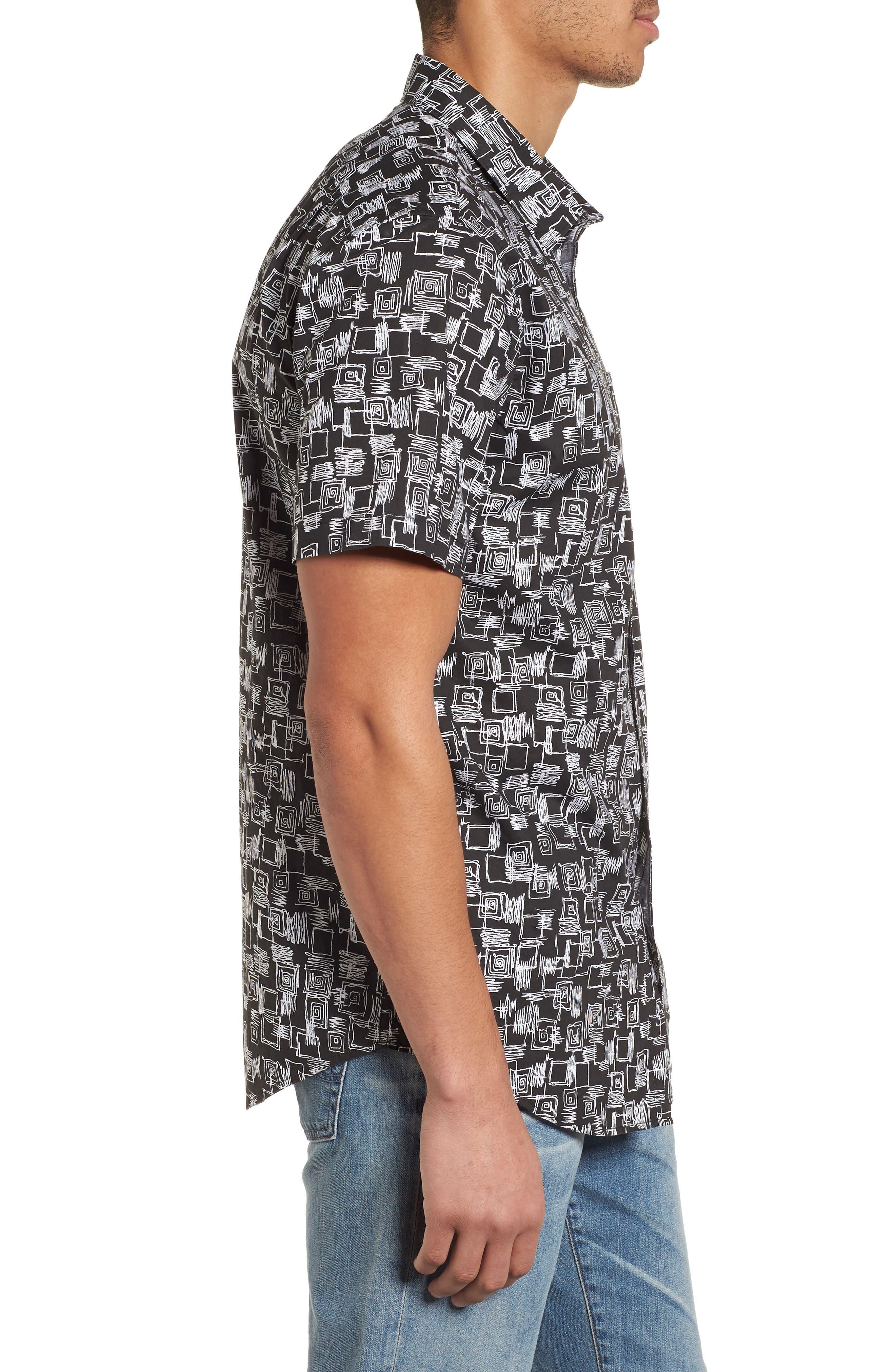 Sundays Mini Short Sleeve Shirt,                             Alternate thumbnail 3, color,                             Black