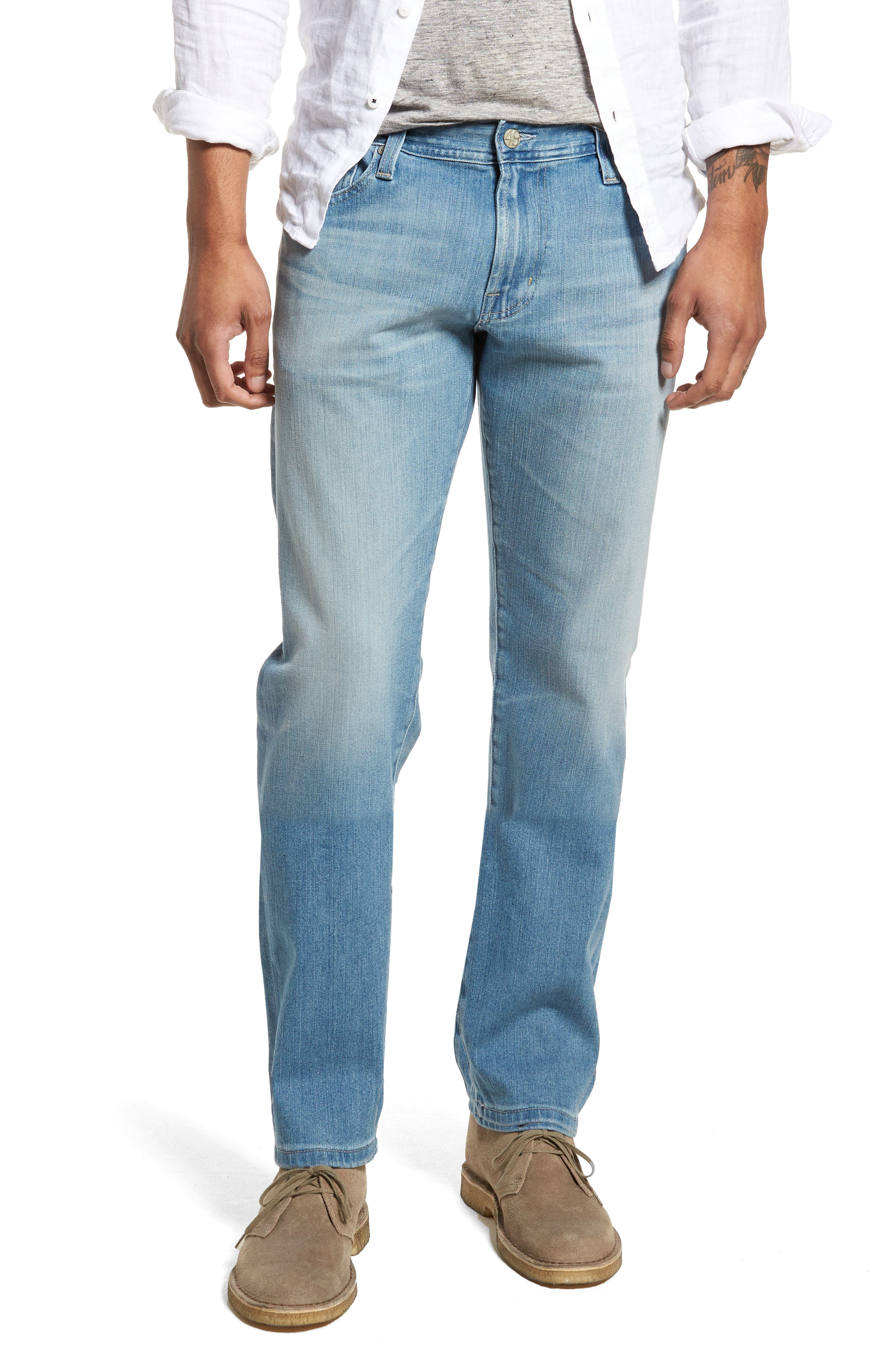 Graduate Slim Straight Leg Jeans,                             Main thumbnail 1, color,                             19 Years Channel