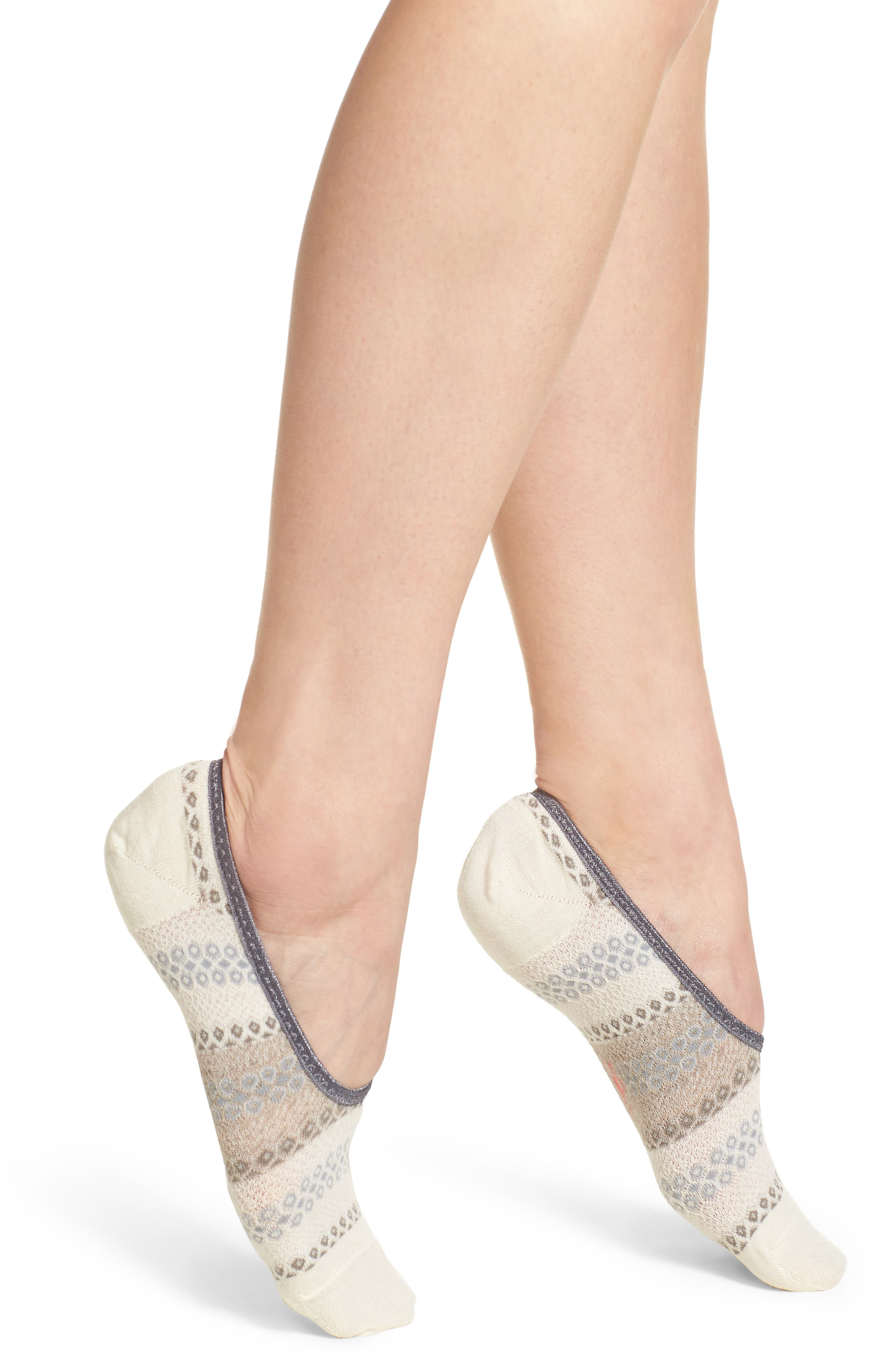 Beyond The Hive Hide & Seek No-Show Socks,                         Main,                         color, Natural