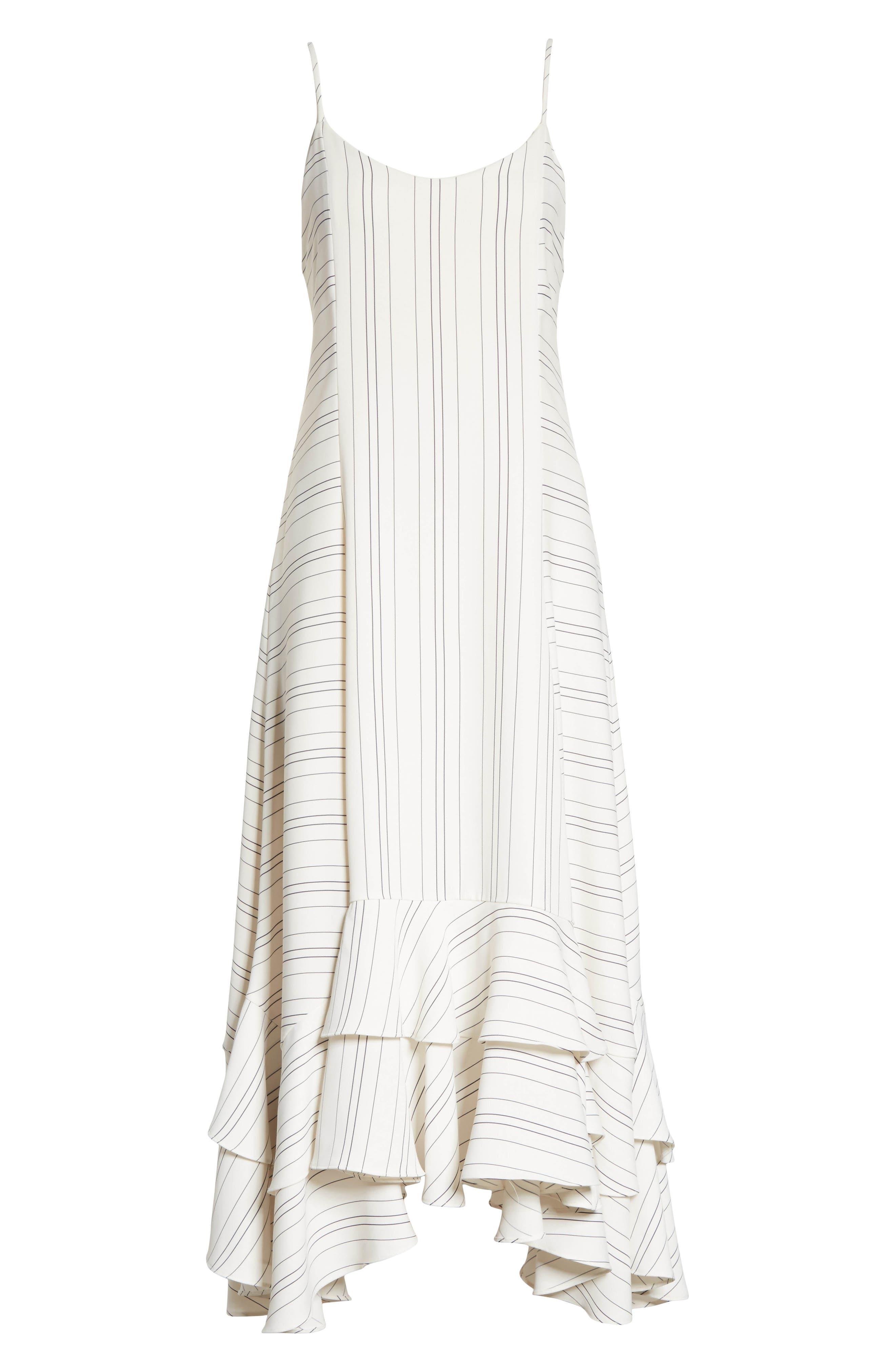 Prose & Poetry Skylar Flare Midi Dress,                             Alternate thumbnail 6, color,                             Light Ecru
