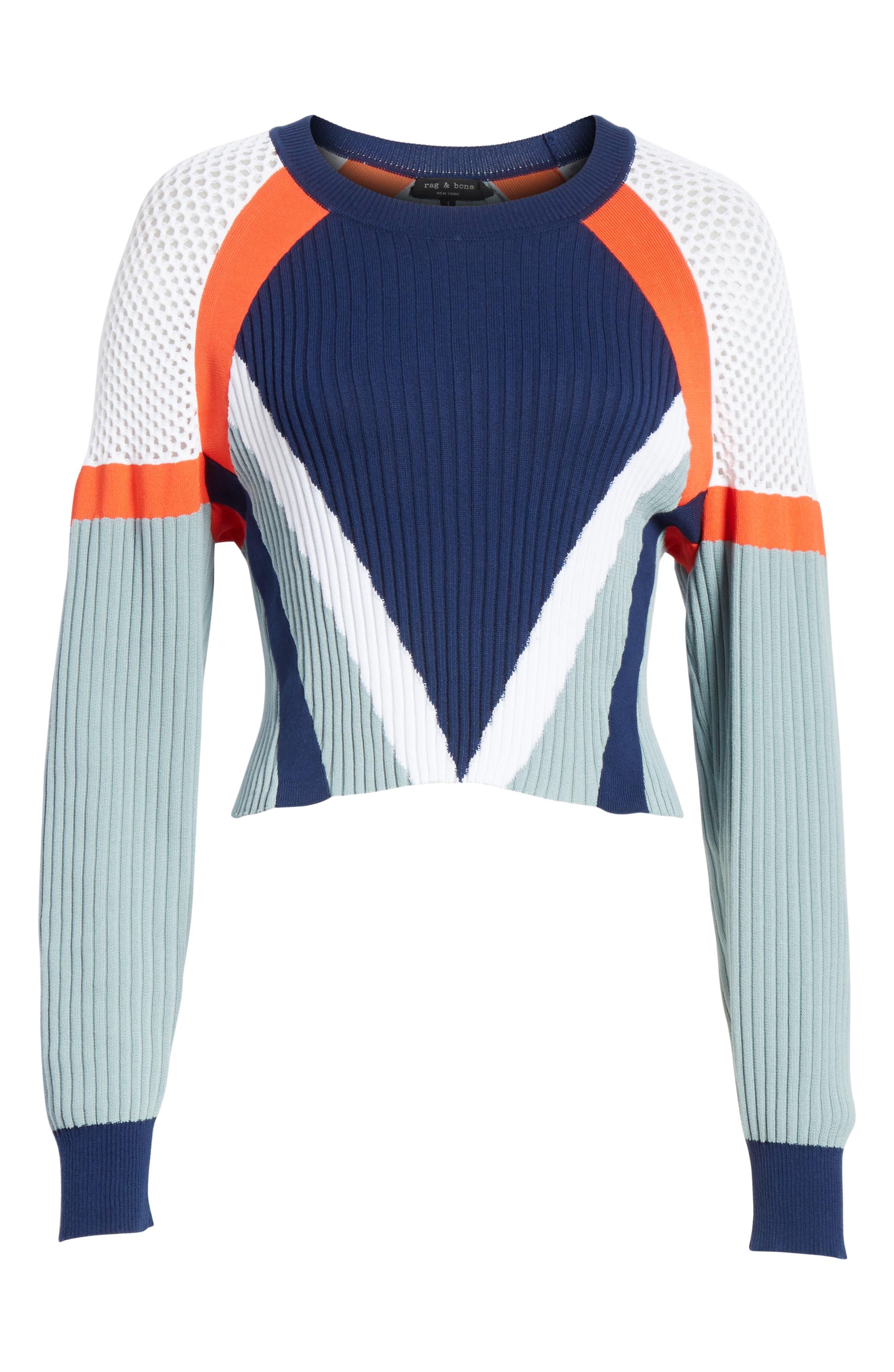 Alternate Image 6  - rag & bone Lark Colorblock Crop Sweater