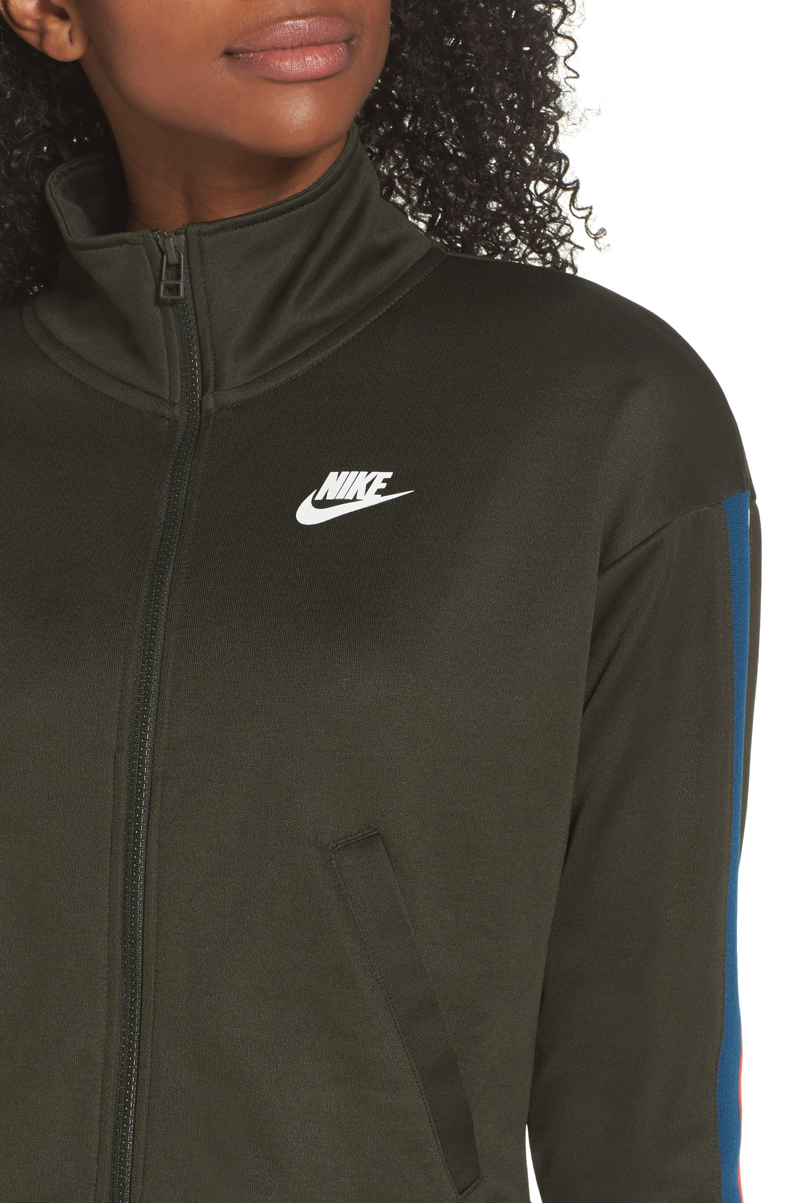 Sportswear Crop Jacket,                             Alternate thumbnail 4, color,                             Sequoia/ Sail