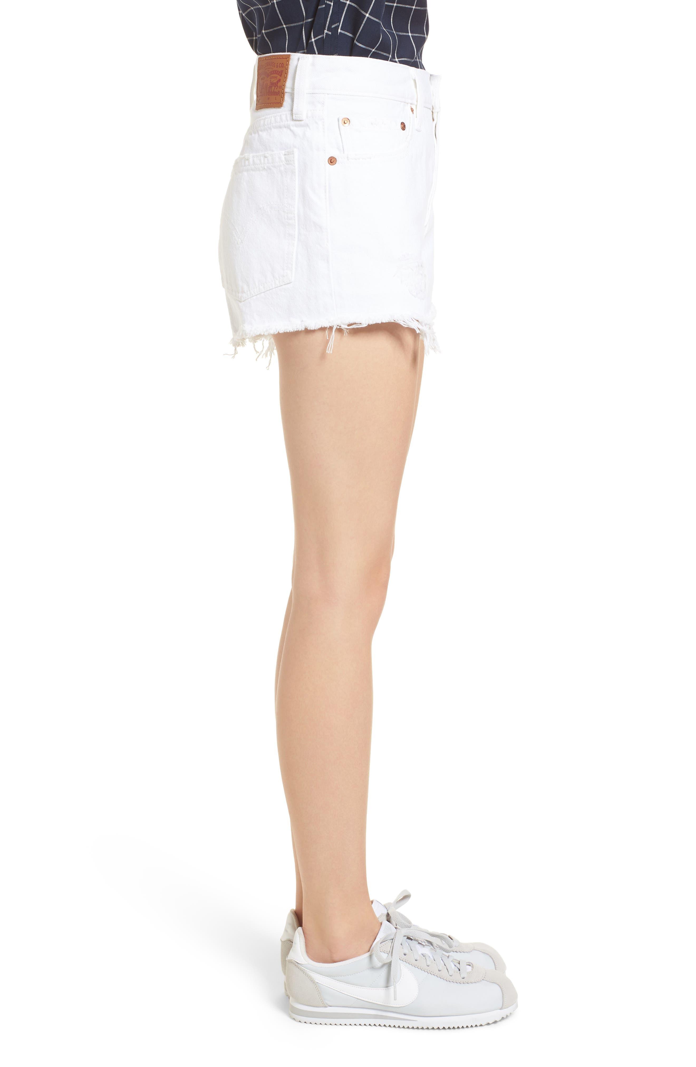 Alternate Image 3  - Levi's® 501® Cutoff Denim Shorts (Super Sonic)