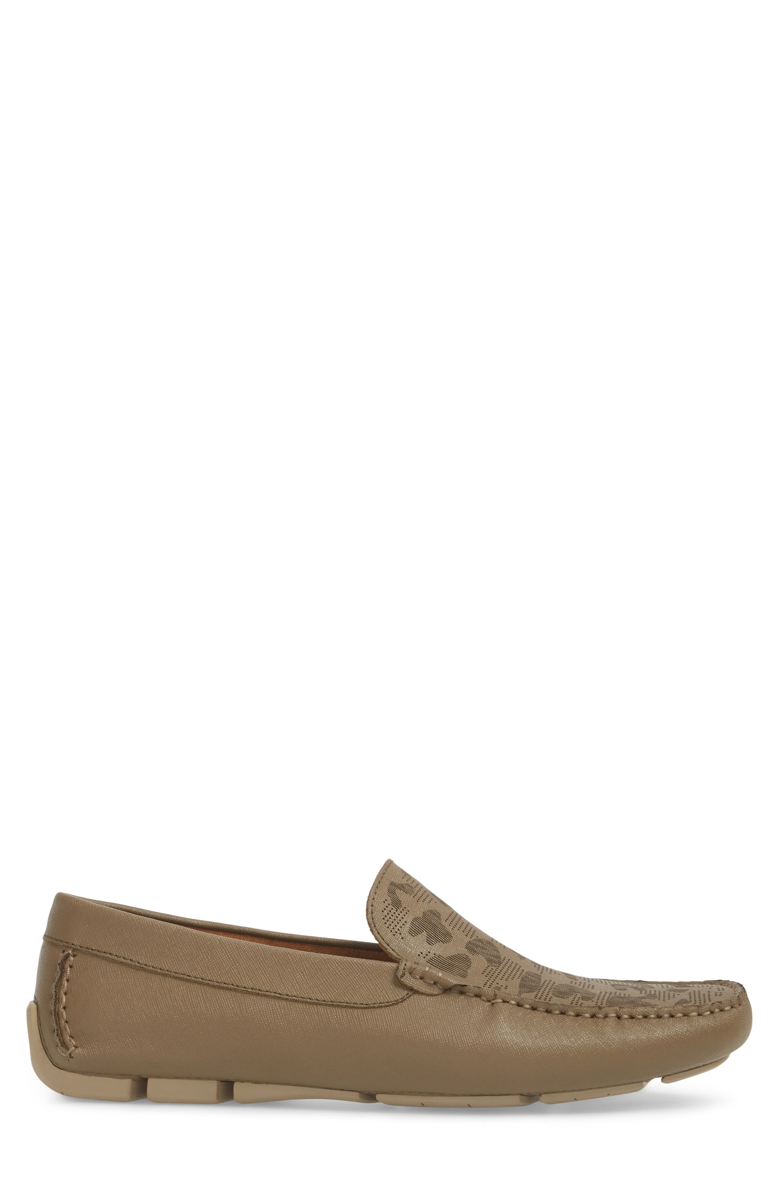 Theme Song Driving Shoe,                             Alternate thumbnail 3, color,                             Taupe Leather