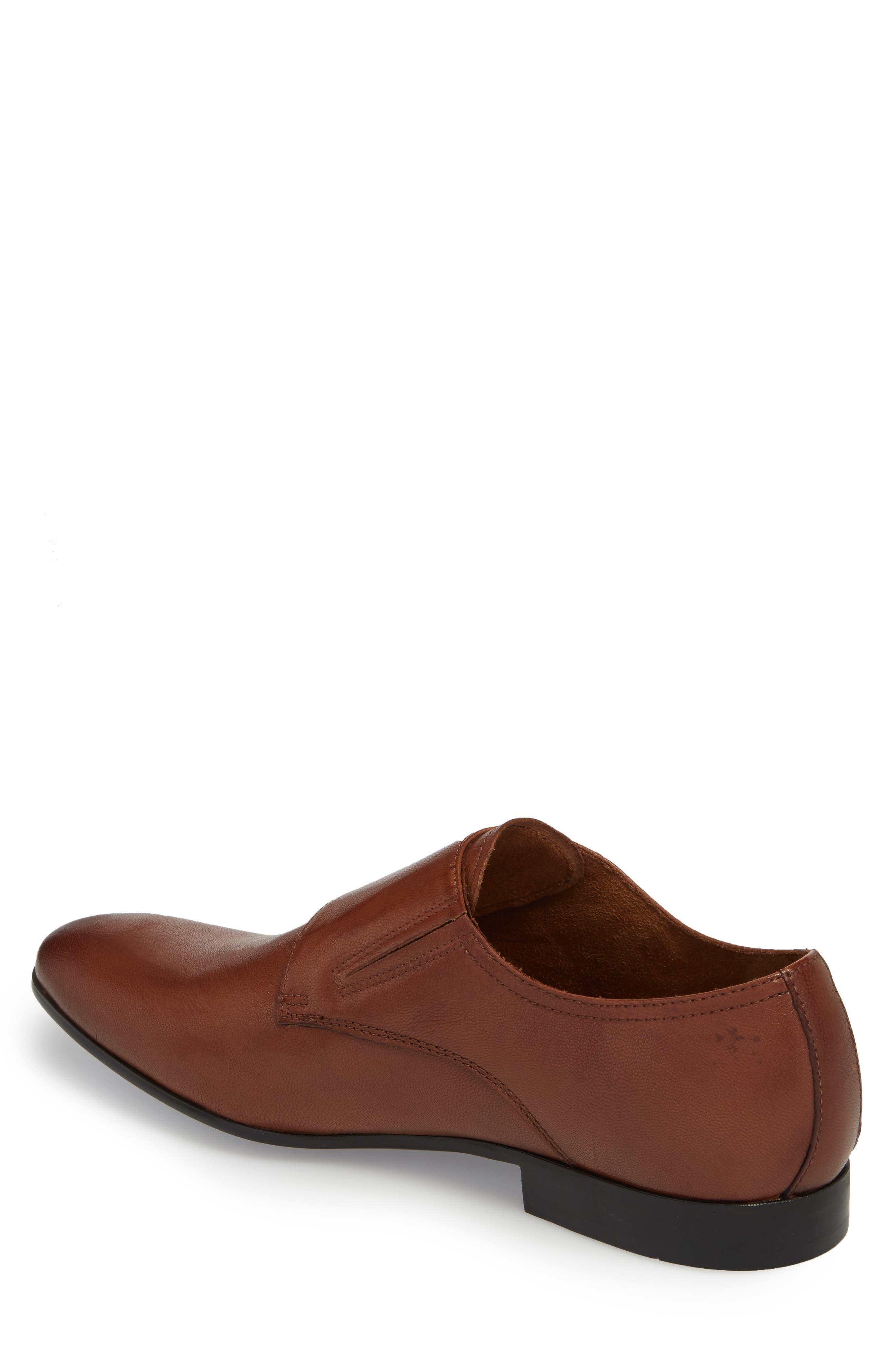 Mix Double Monk Strap Shoe,                             Alternate thumbnail 2, color,                             Cognac Leather