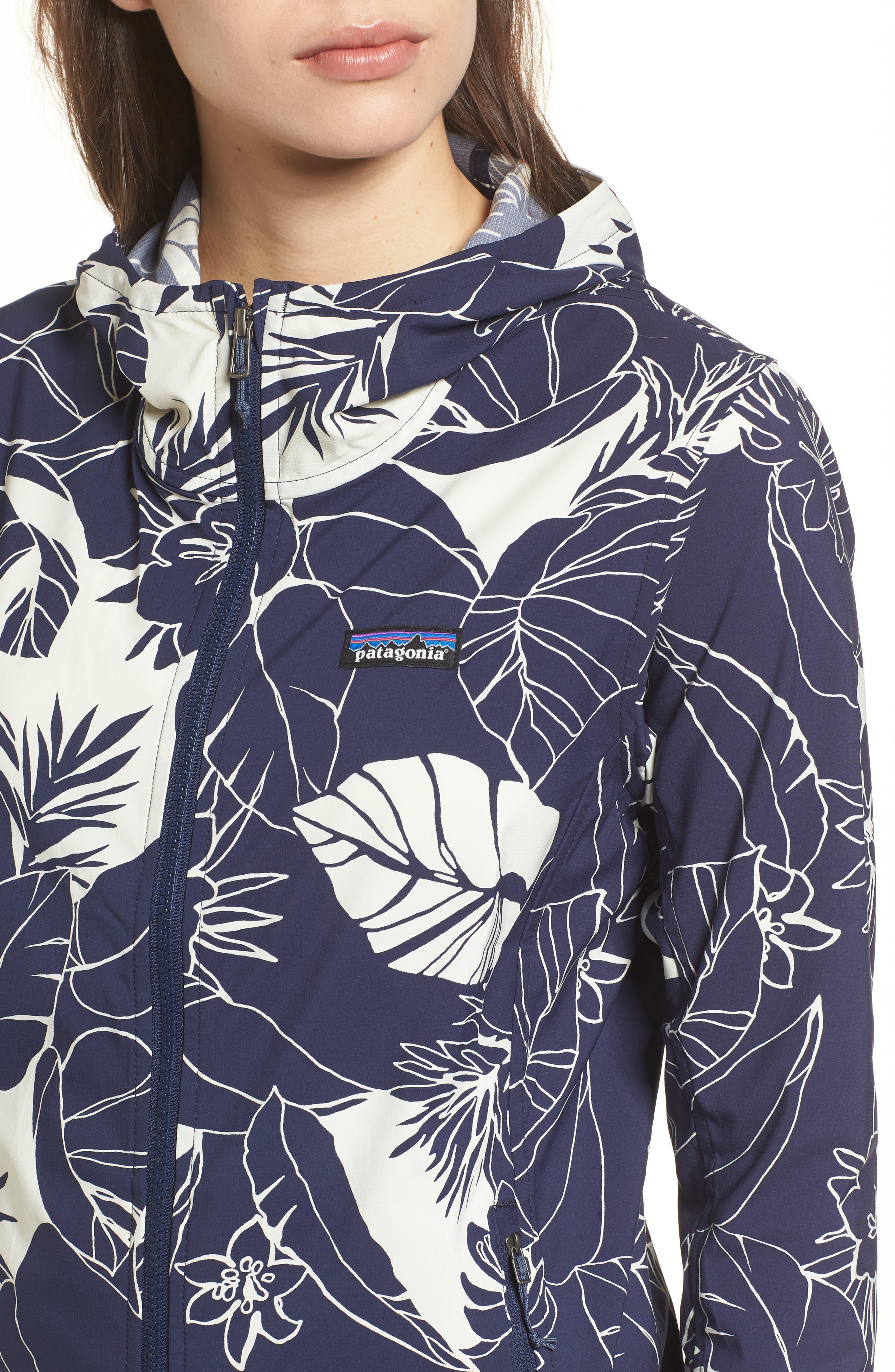 Bajadas Hoodie Jacket,                             Alternate thumbnail 4, color,                             Classic Navy/ Birch White