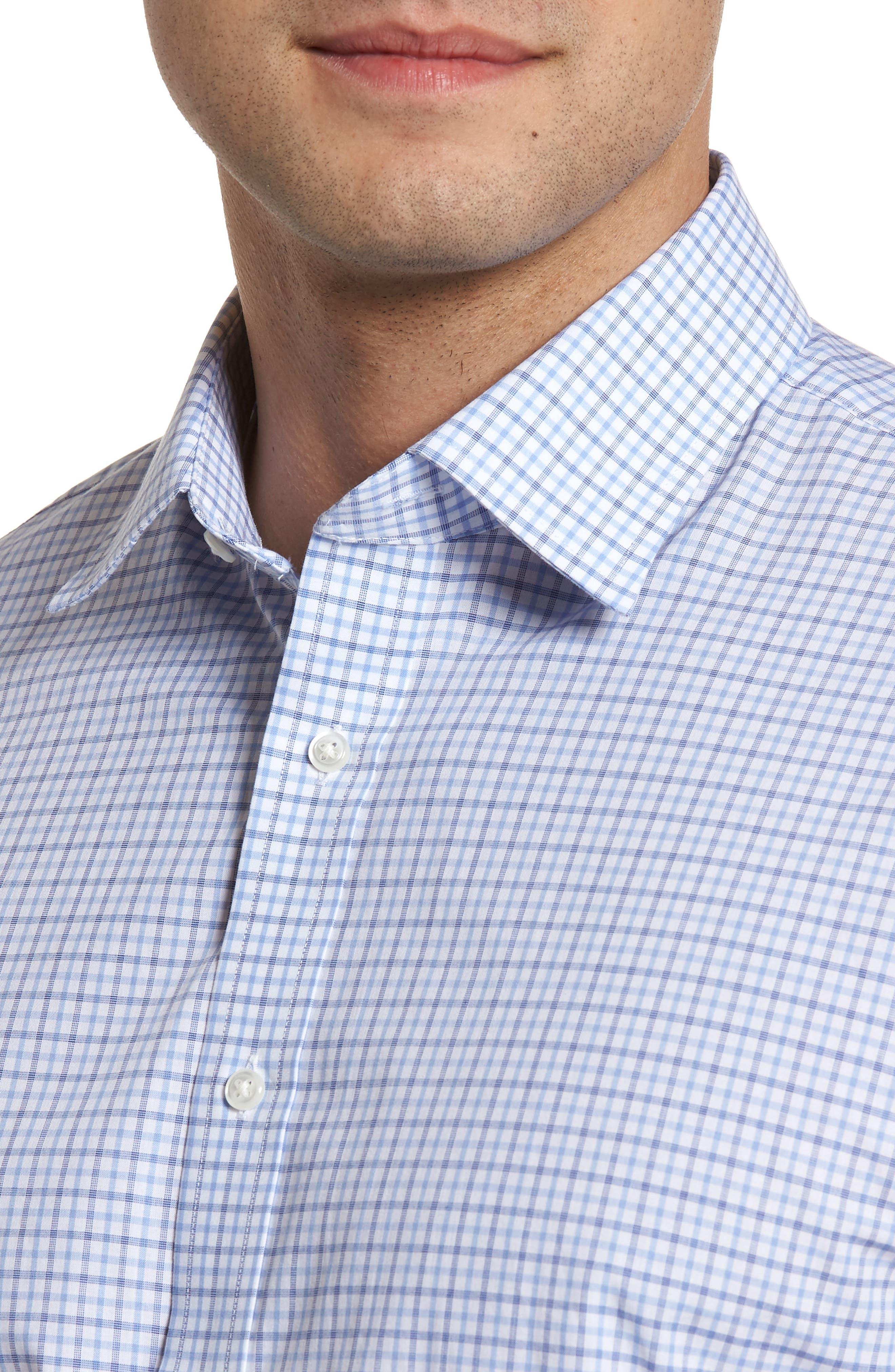 Classic Fit Check Dress Shirt,                             Alternate thumbnail 2, color,                             Blue Marine