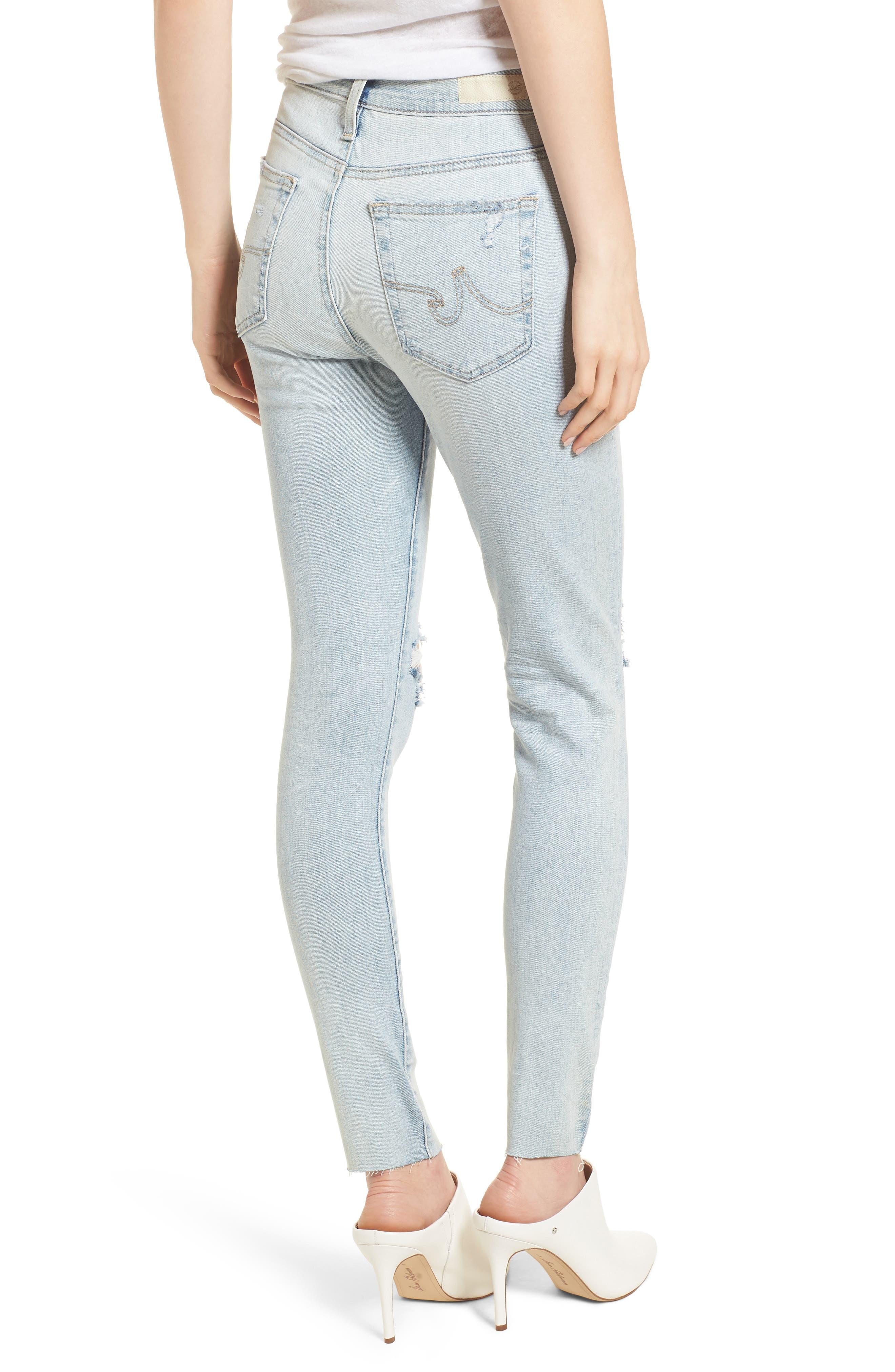 The Farrah High Waist Ankle Skinny Jeans,                             Alternate thumbnail 6, color,                             24 Years-Seabird