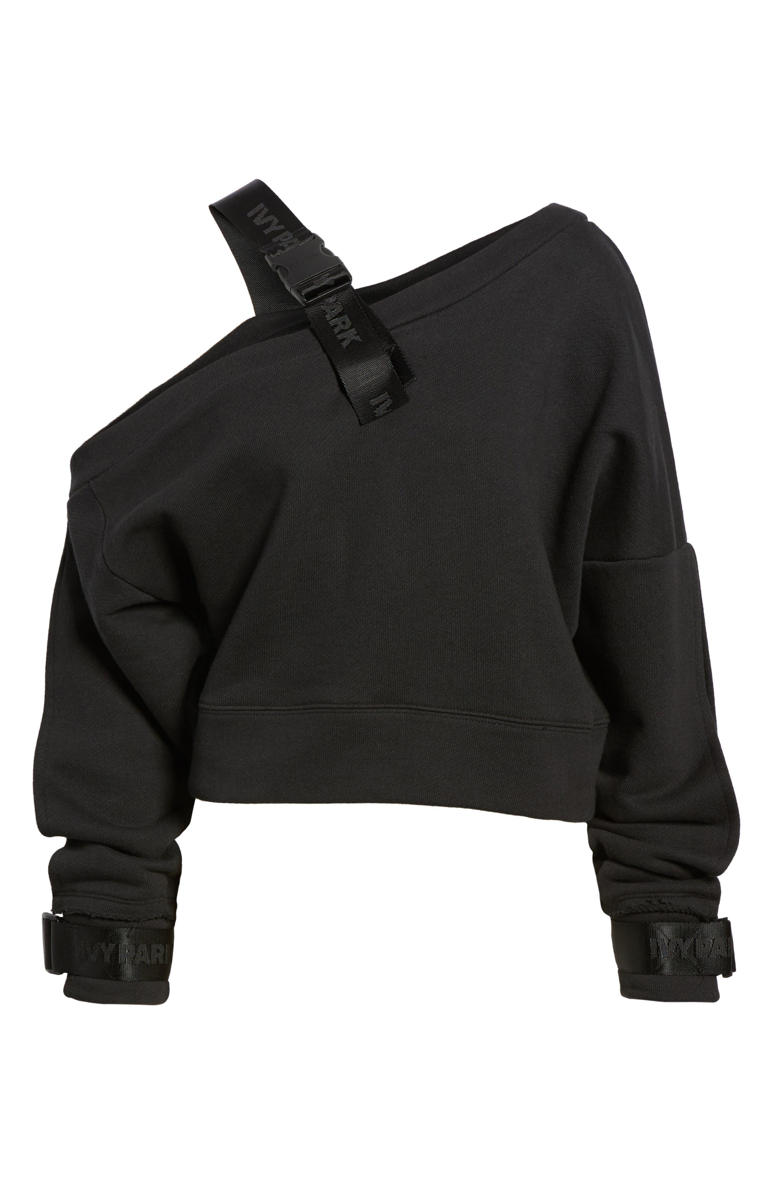 Harness Strap Sweatshirt,                             Alternate thumbnail 7, color,                             Black