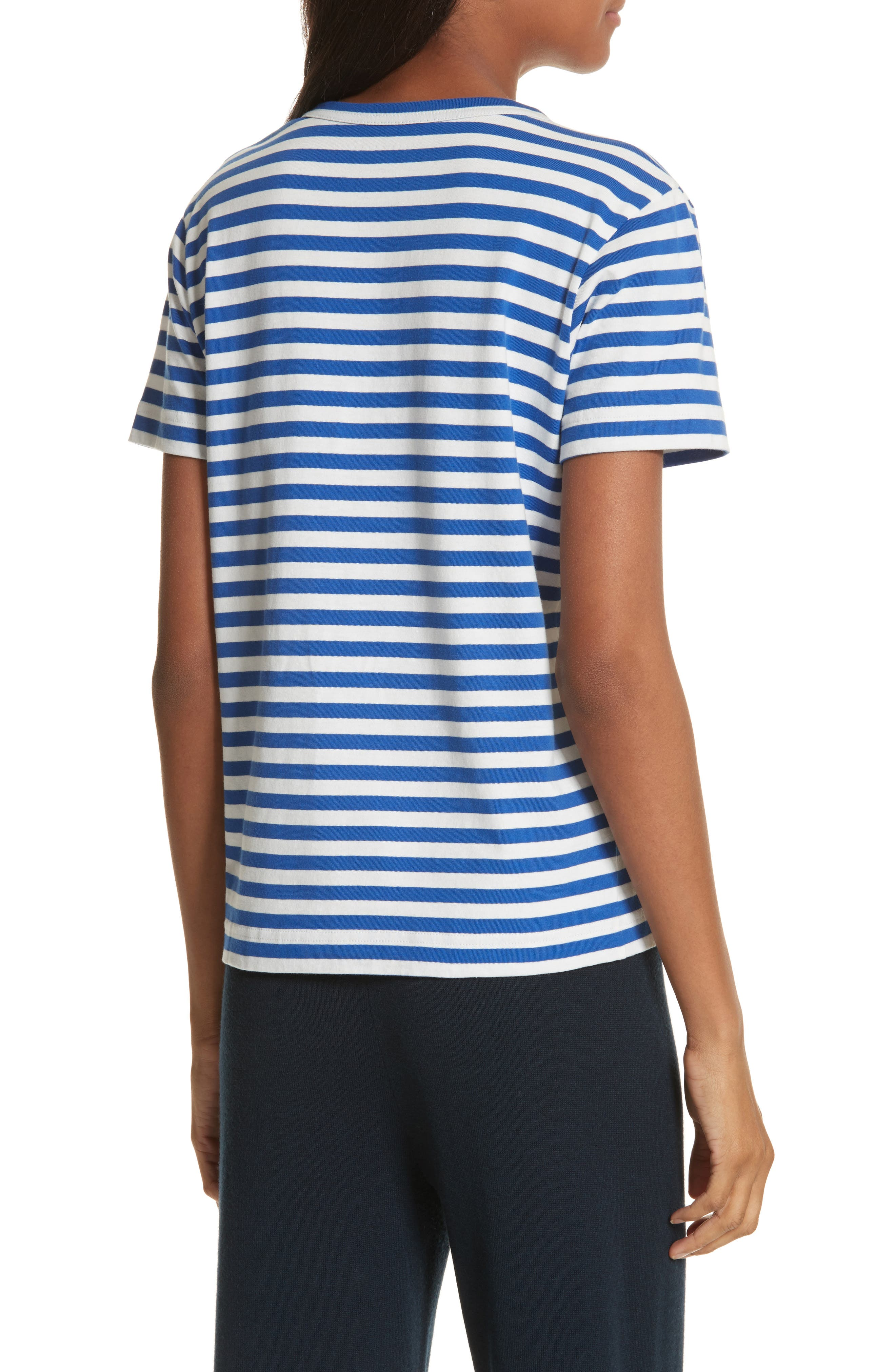 Little Grumps Stripe Tee,                             Alternate thumbnail 2, color,                             Slalom Blue Classic Stripe