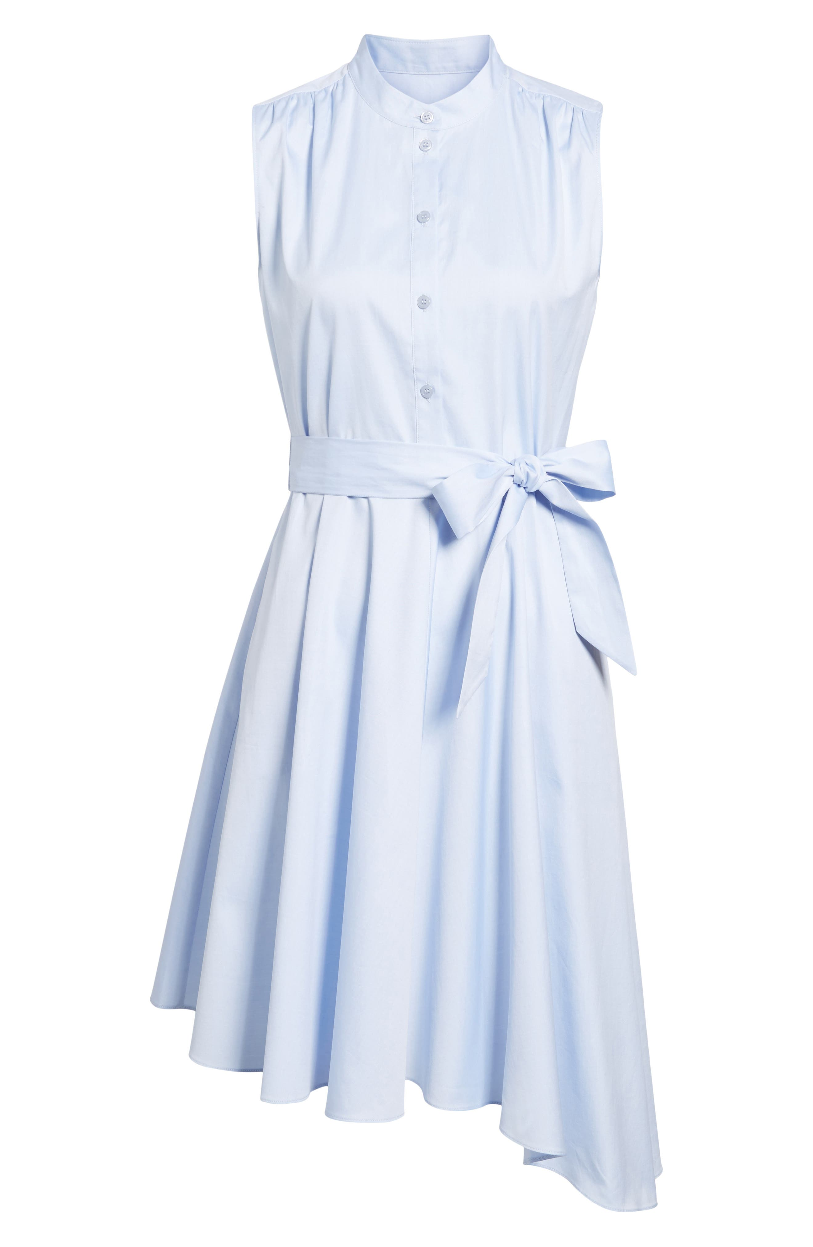 Asymmetrical Shirtdress,                             Alternate thumbnail 5, color,                             Blue Feather