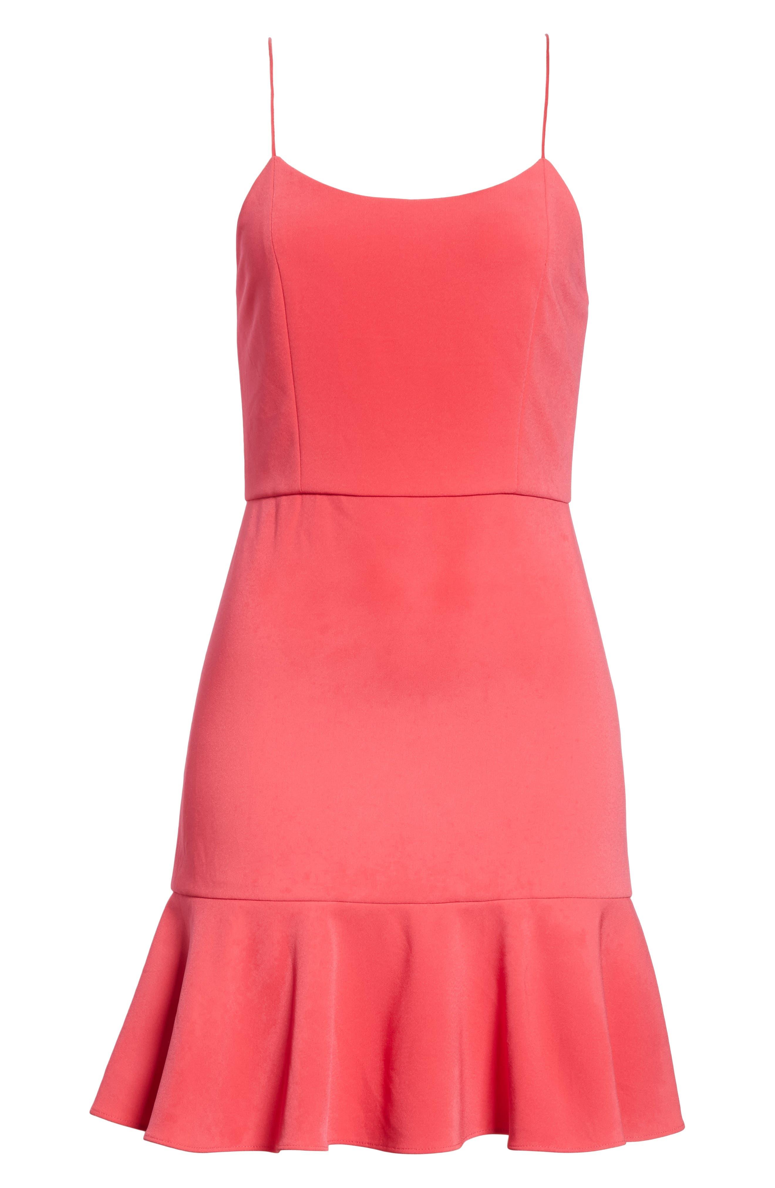 Andalasia Sleeveless Fit & Flare Dress,                             Alternate thumbnail 6, color,                             Watermelon