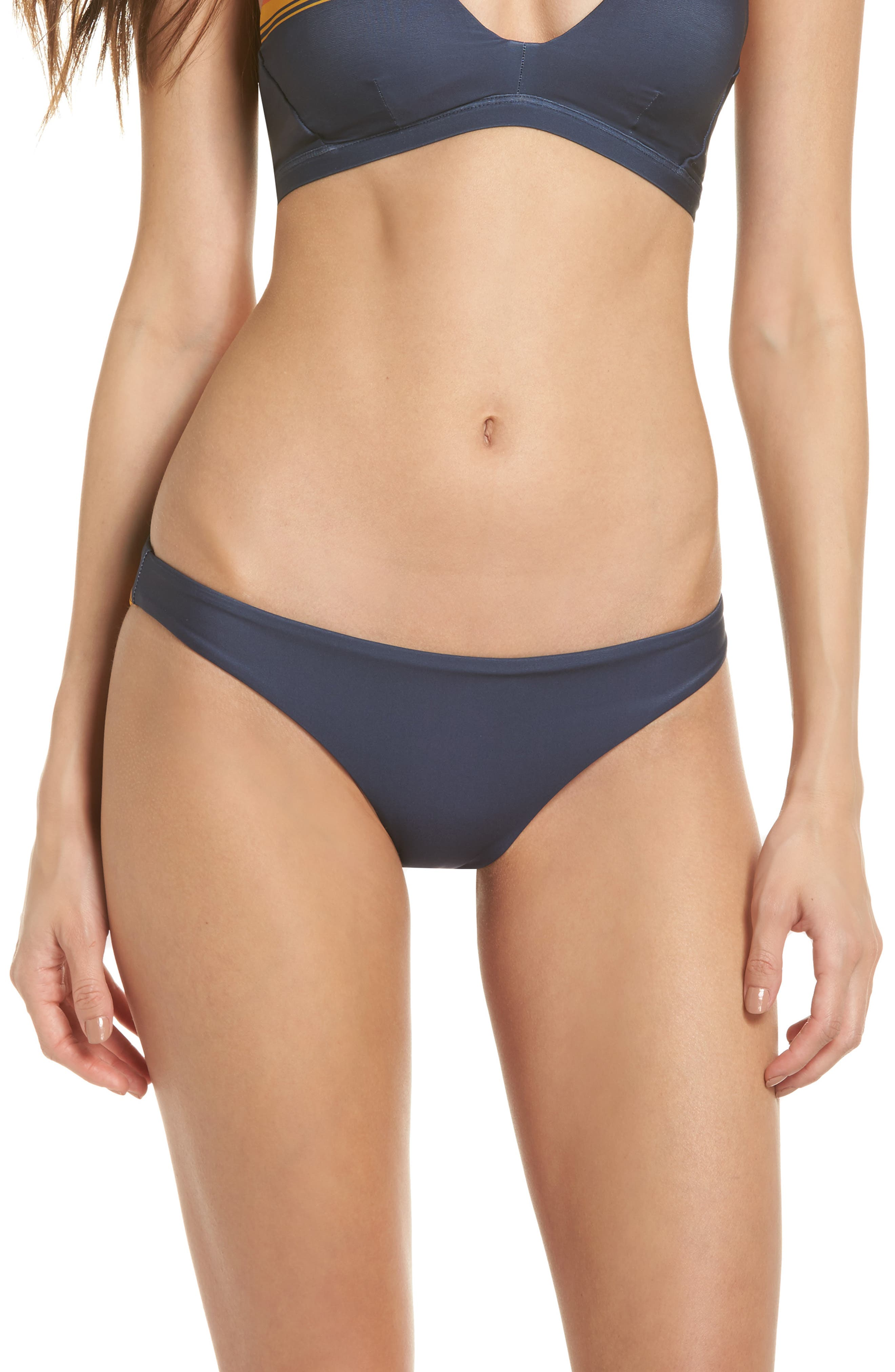 Quick Dry Pendleton Grand Canyon Hipster Bikini Bottoms,                         Main,                         color, Obsidian