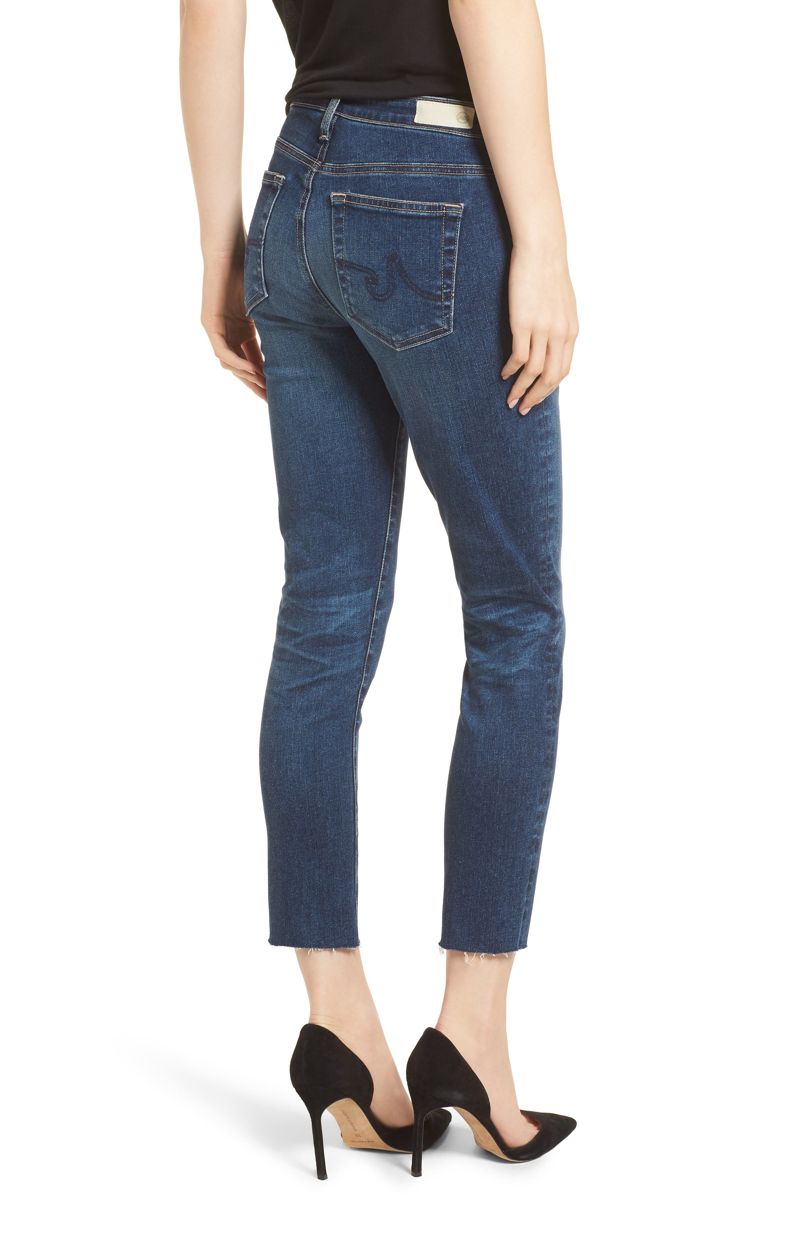 Prima Crop Skinny Jeans,                             Alternate thumbnail 2, color,                             5 Year Indigo Ave